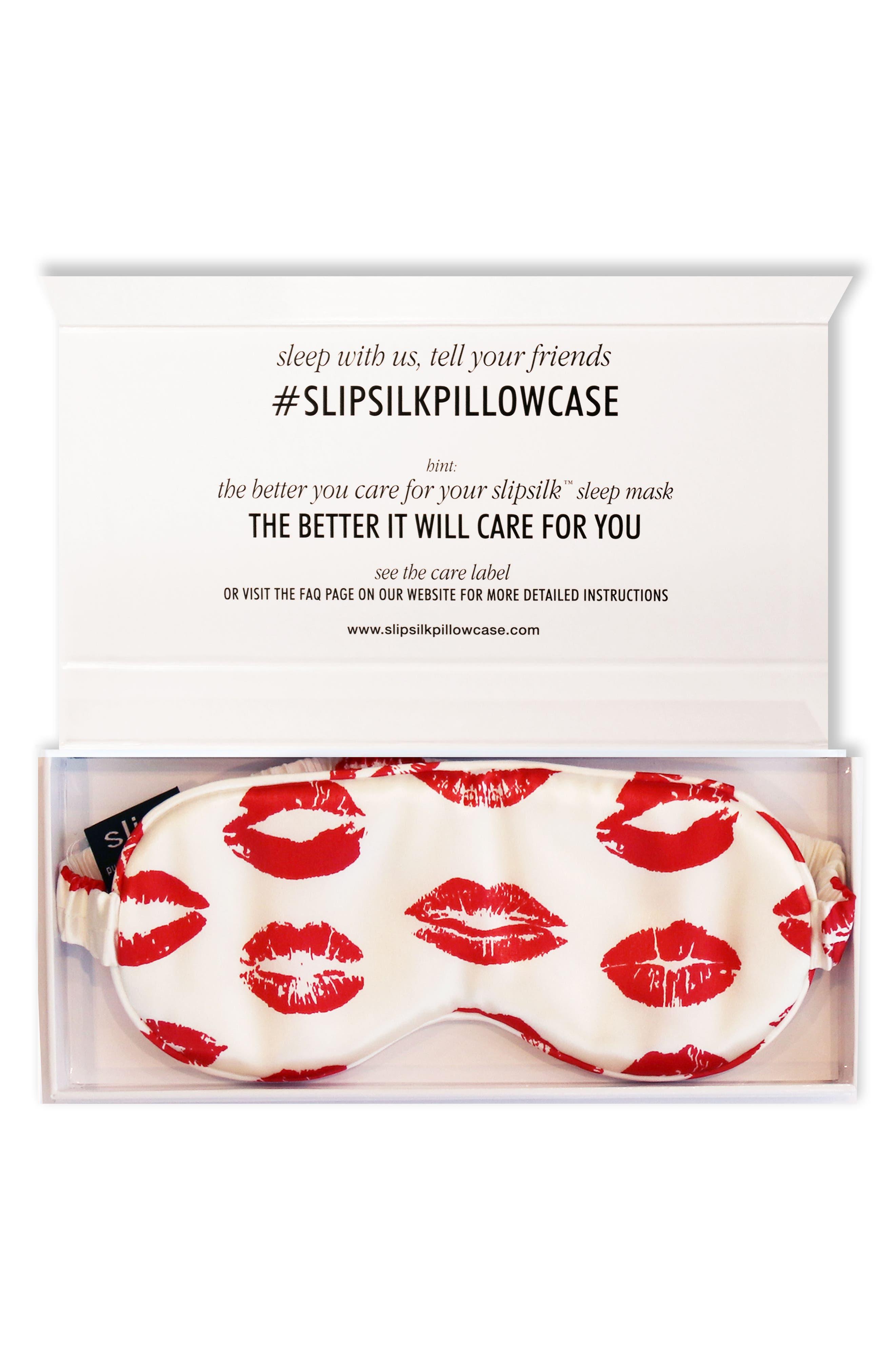 slip™ for beauty sleep Slipsilk™ Red Kisses Pure Silk Sleep Mask (Limited Edition)