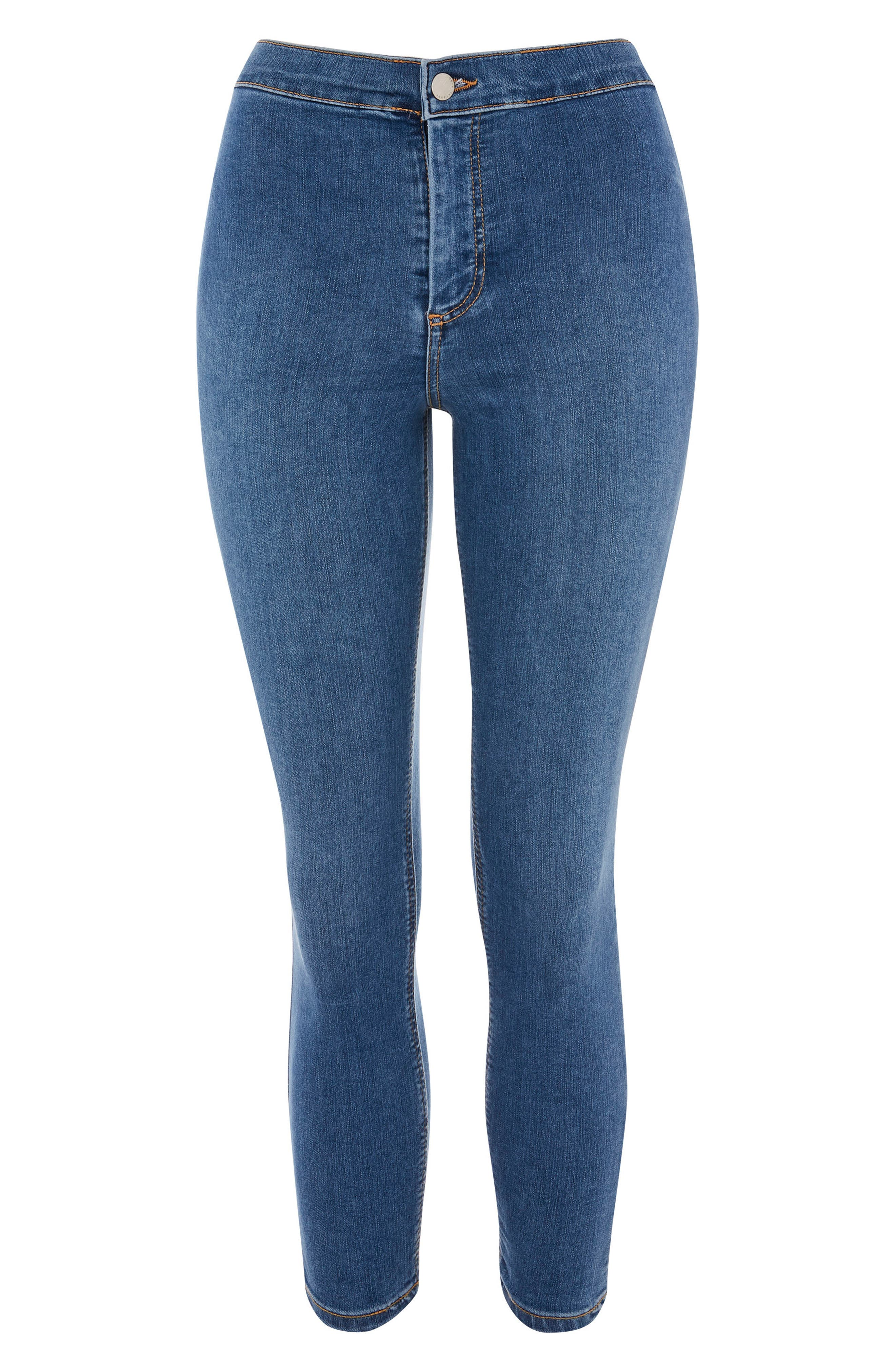 Joni Skinny Jeans,                             Alternate thumbnail 4, color,                             Mid Denim