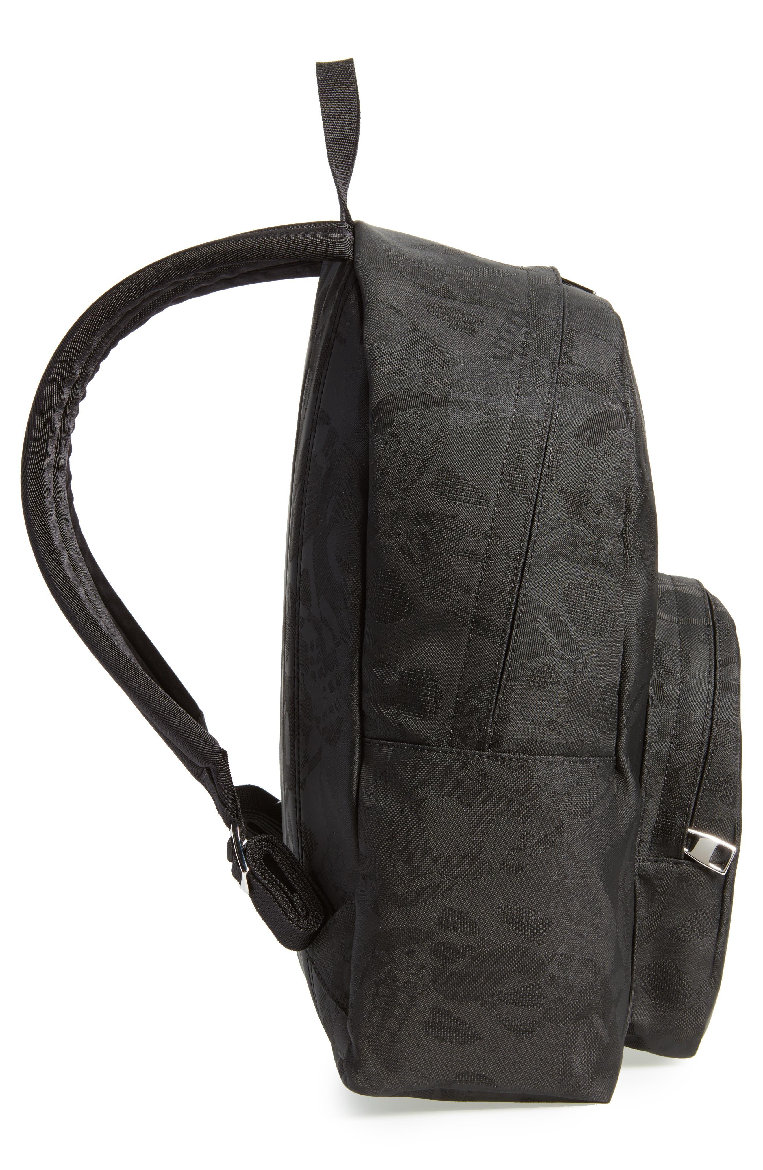 Small Backpack,                             Alternate thumbnail 5, color,                             Black