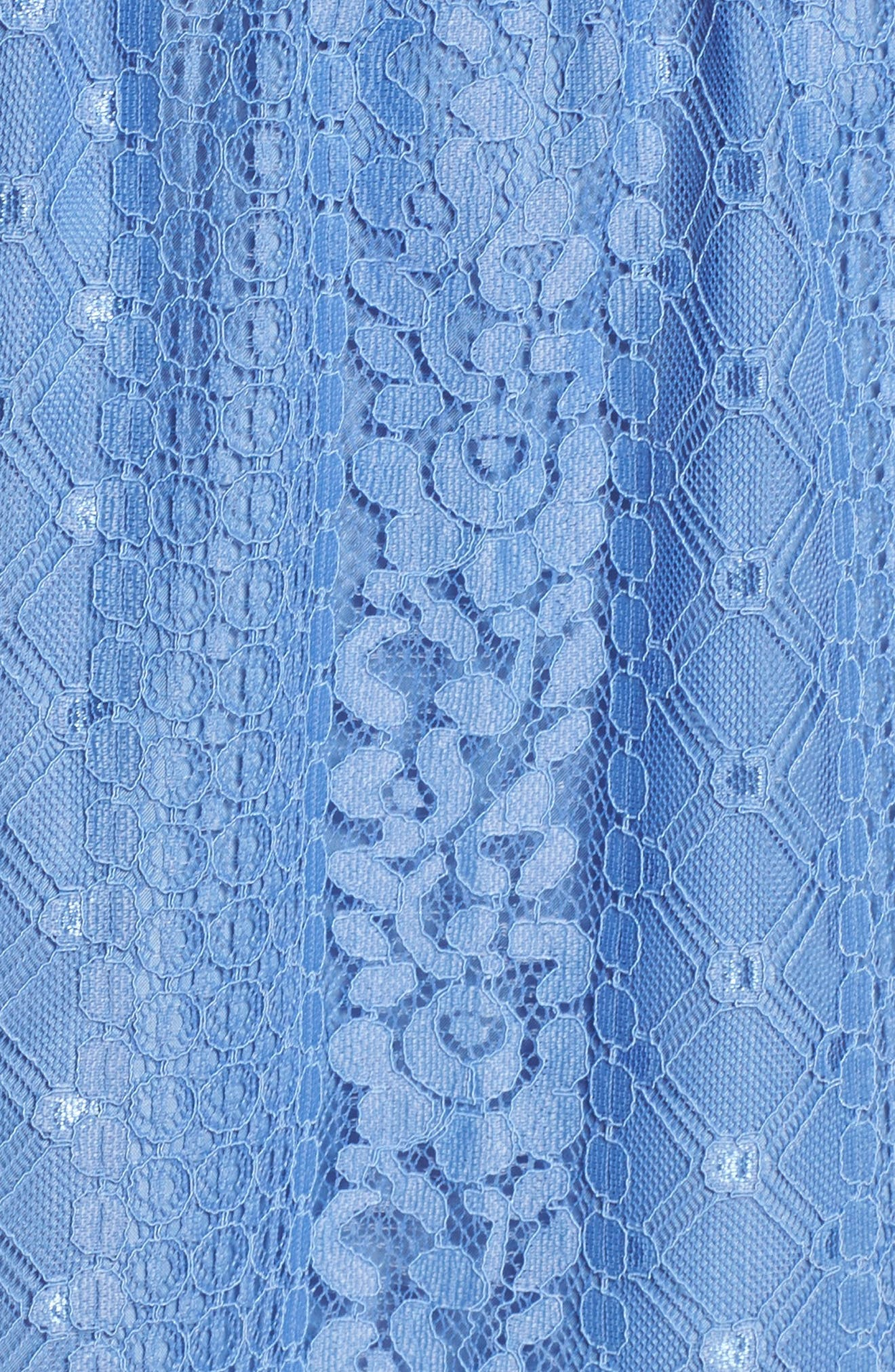 Zinnia Lace Ruffle Off the Shoulder Dress,                             Alternate thumbnail 5, color,                             French Blue