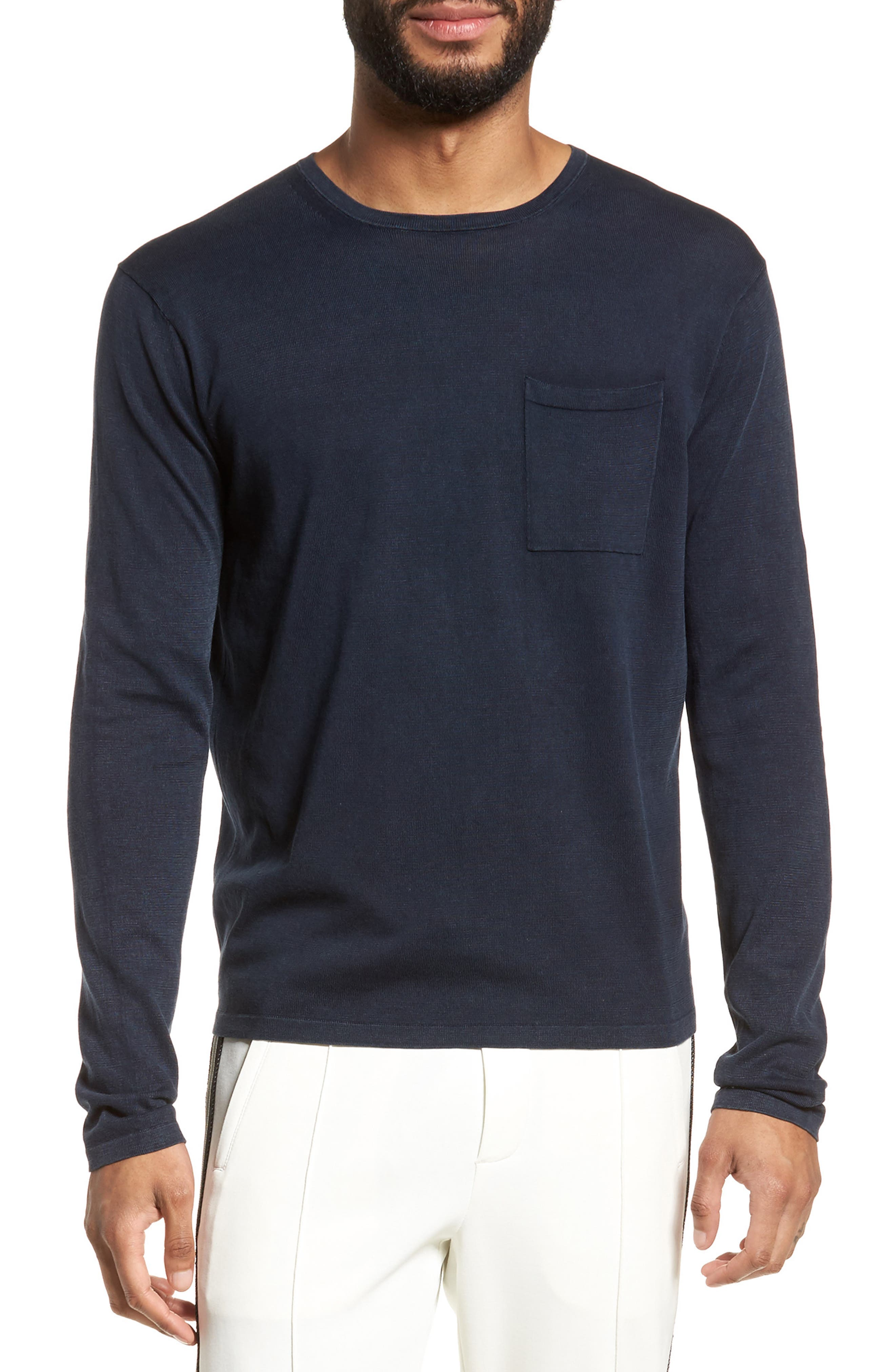 Long Sleeve Pocket T-Shirt,                         Main,                         color, New Coastal