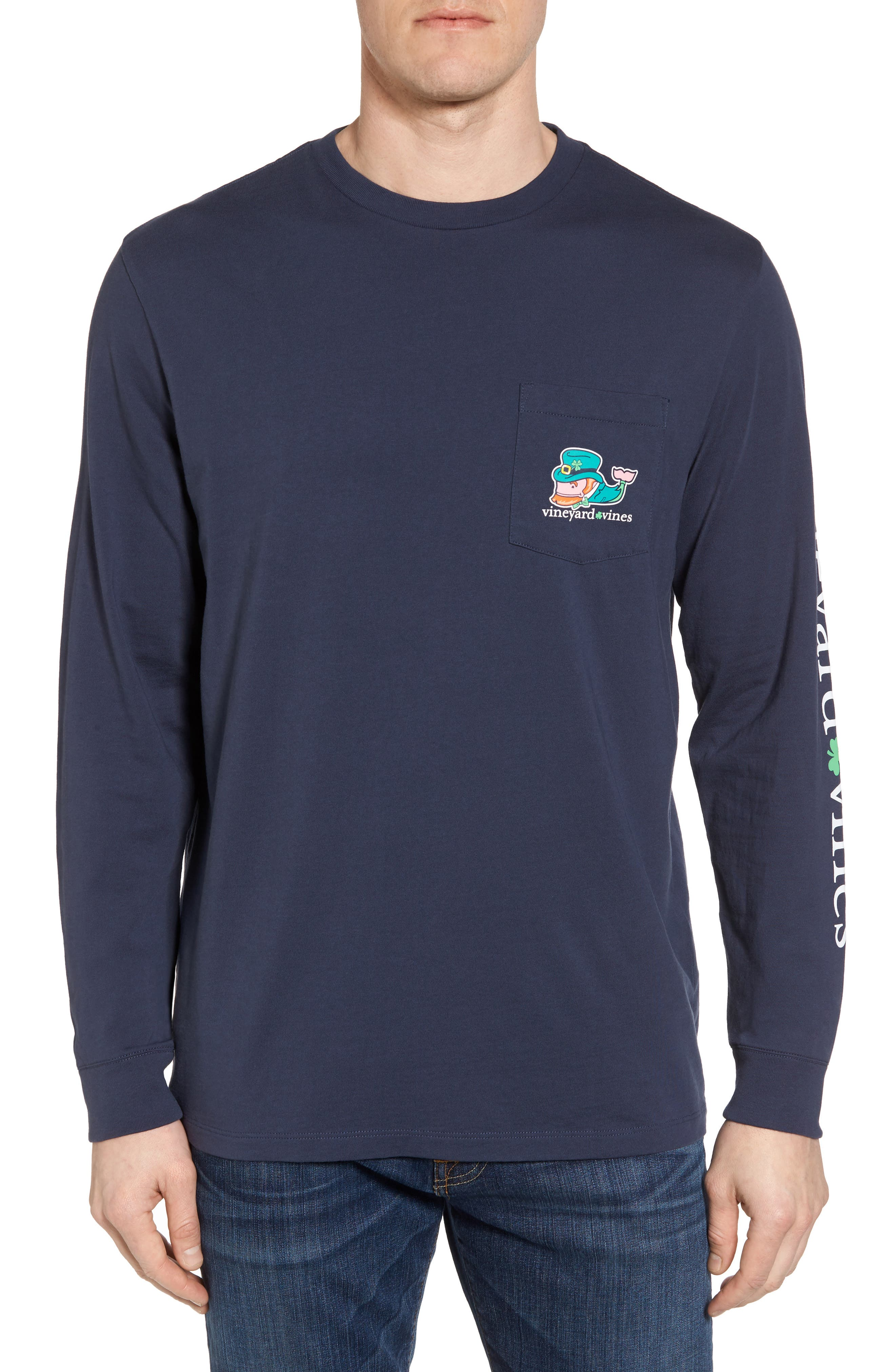 St. Paddy's Day T-Shirt,                         Main,                         color, Blue Blazer