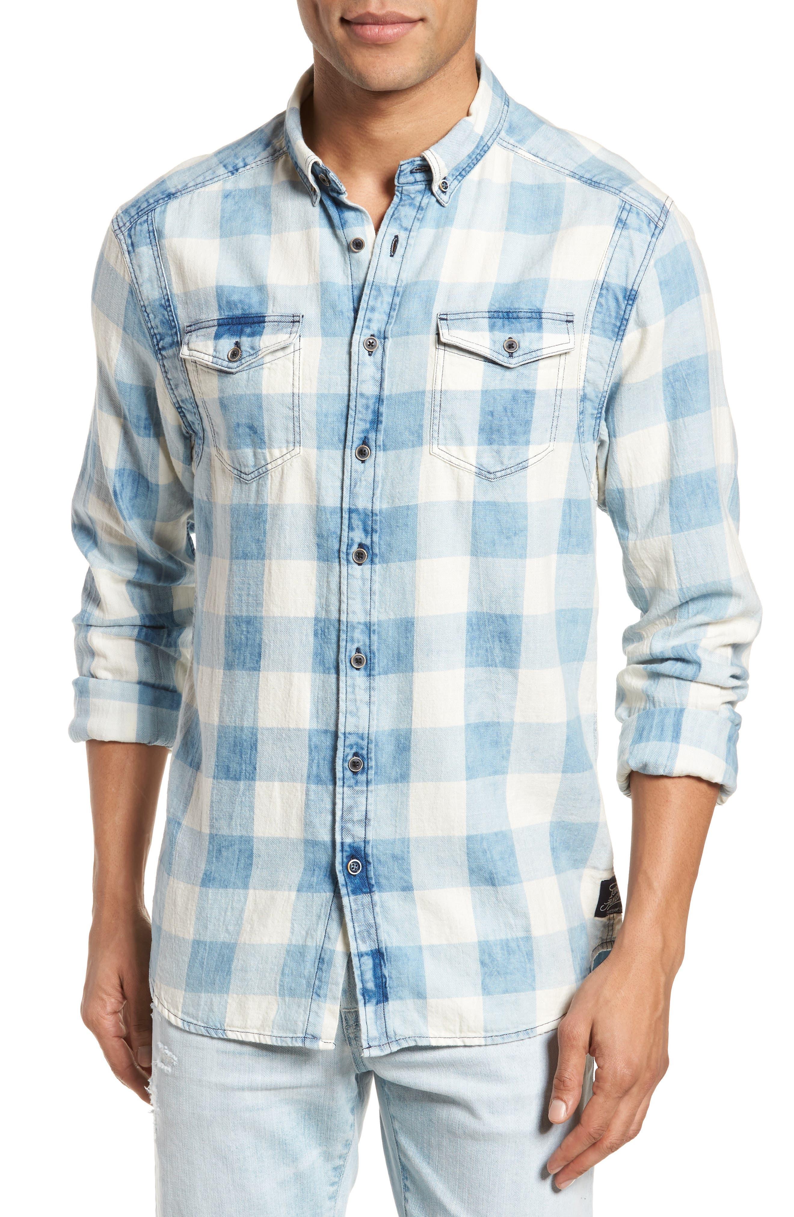 Amsterdams Blauw Check Shirt,                             Main thumbnail 1, color,                             Combo A