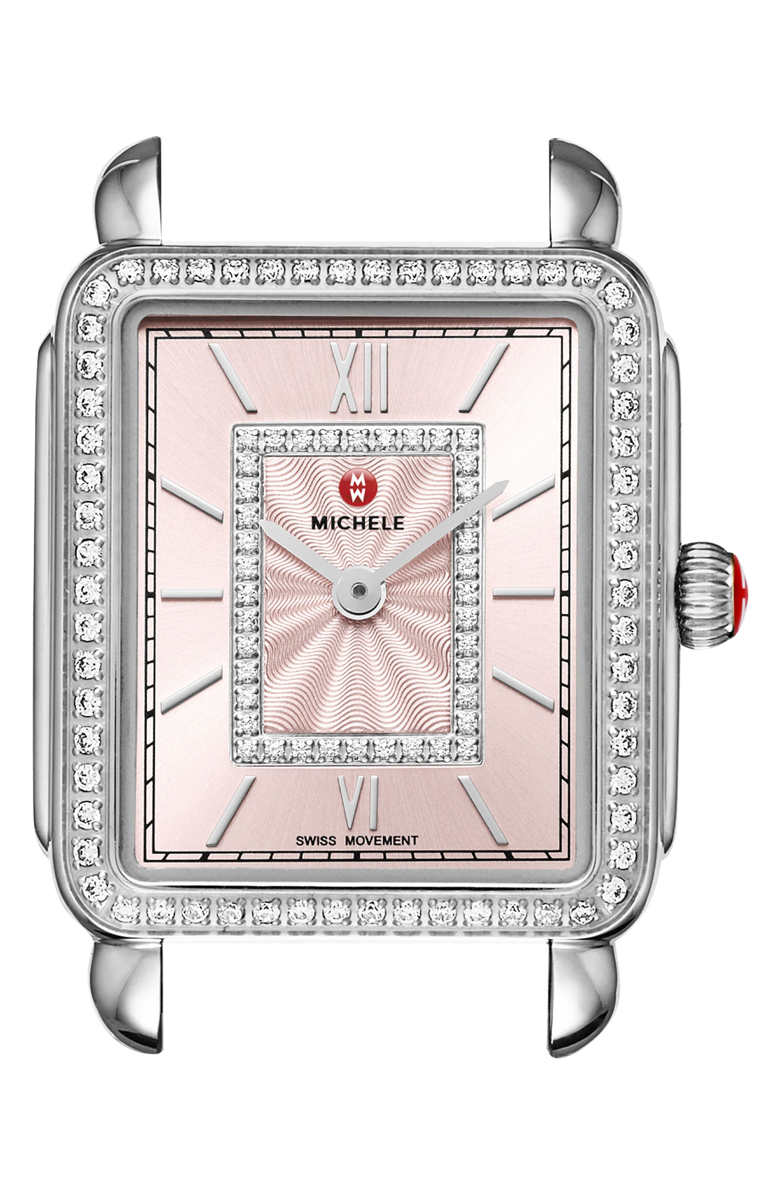 Main Image - MICHELE Deco II Mid Diamond Watch Head, 26mm x 27mm