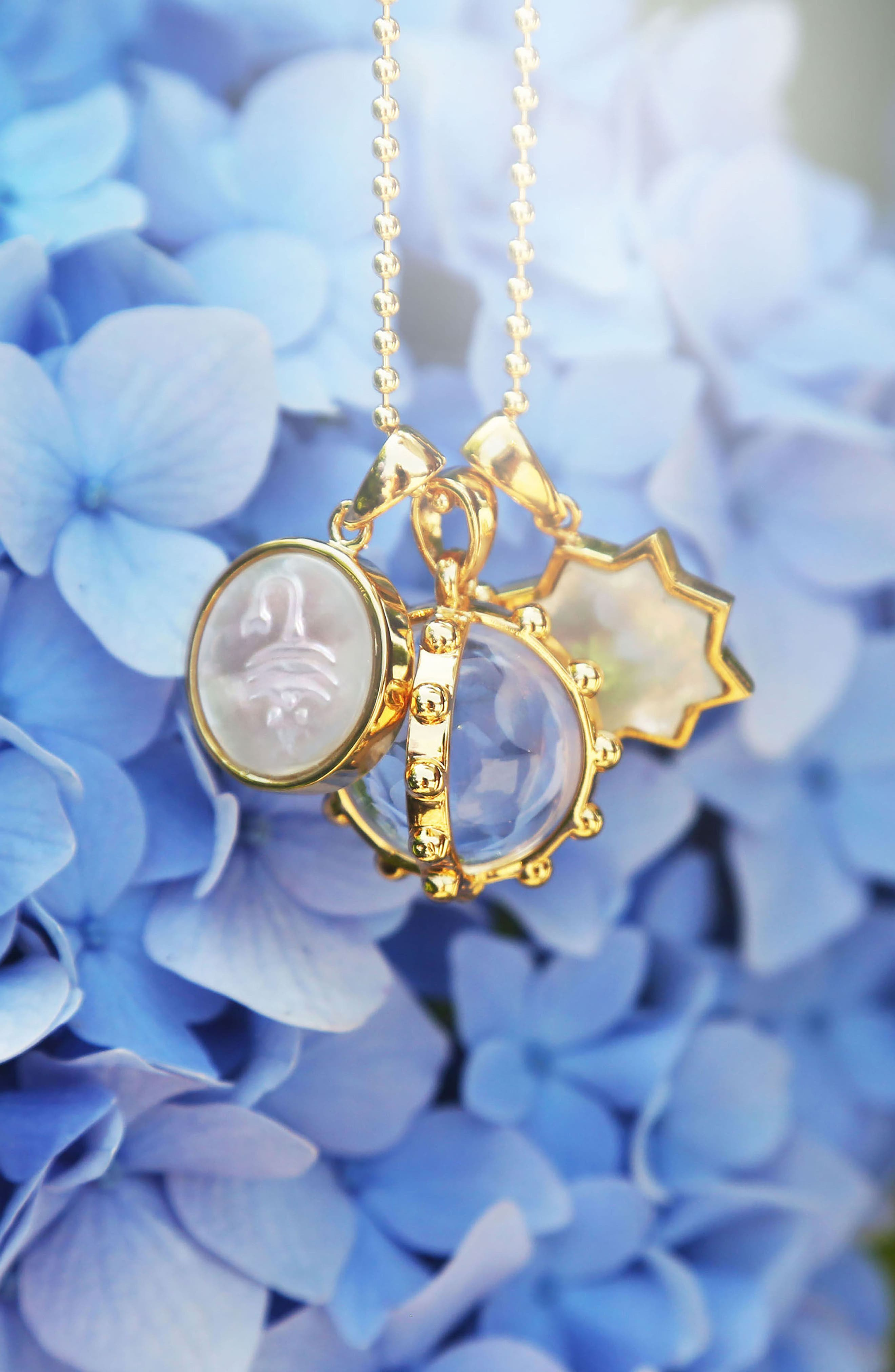 Zodiac Mother-of-Pearl Charm,                             Alternate thumbnail 2, color,