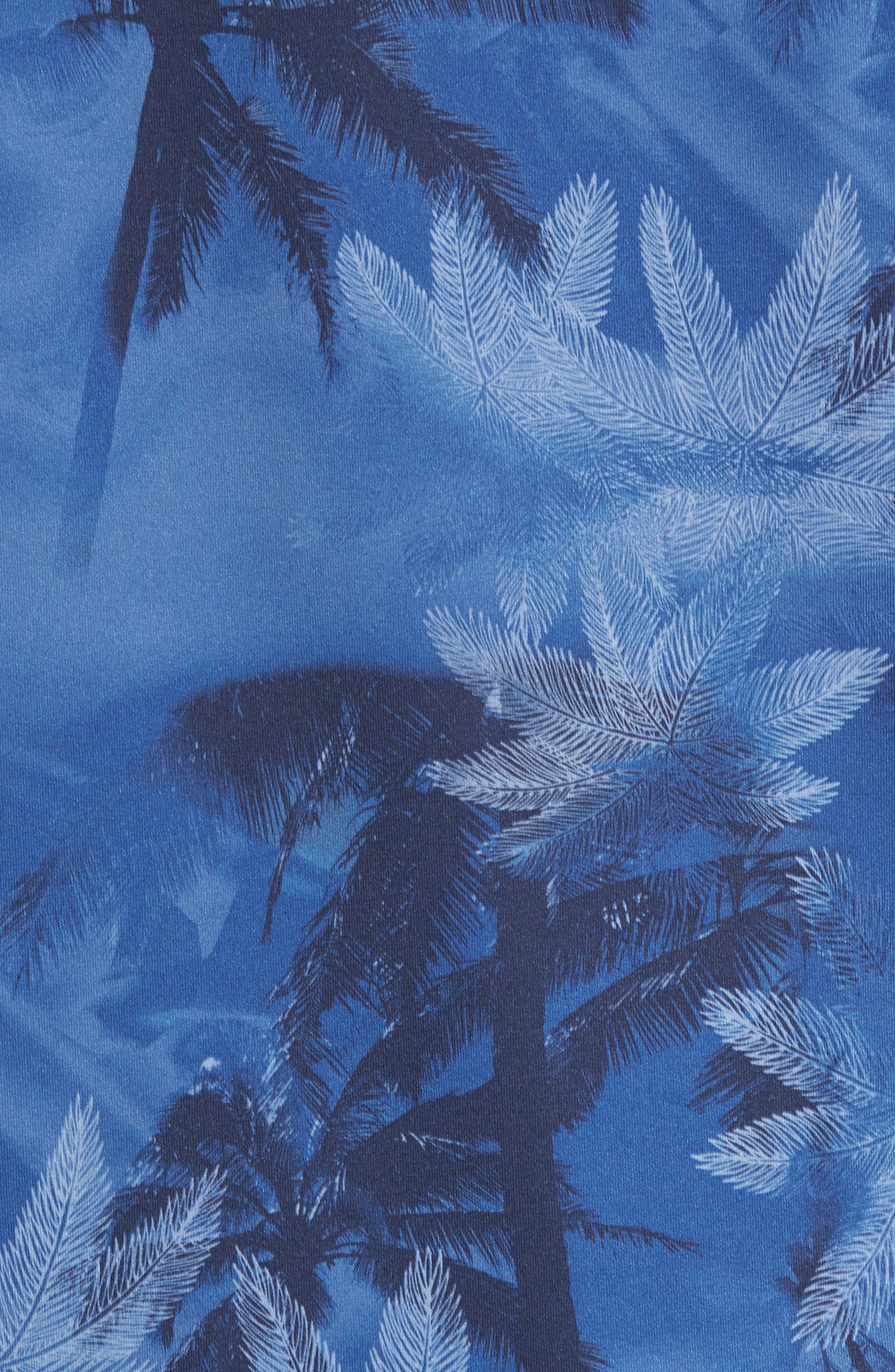 Tropic Haze Print Performance T-Shirt,                             Alternate thumbnail 5, color,                             Atlantic