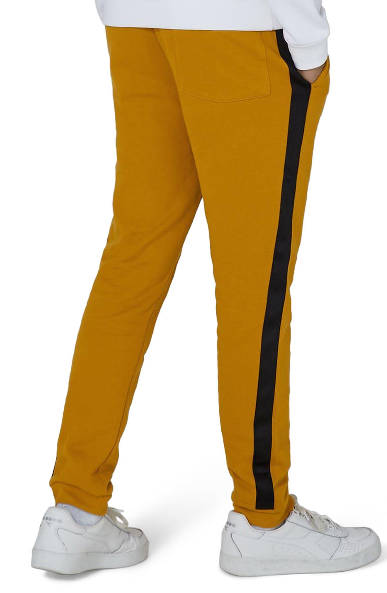 Side Tape Classic Fit Jogger Pants,                             Alternate thumbnail 2, color,                             Yellow Multi