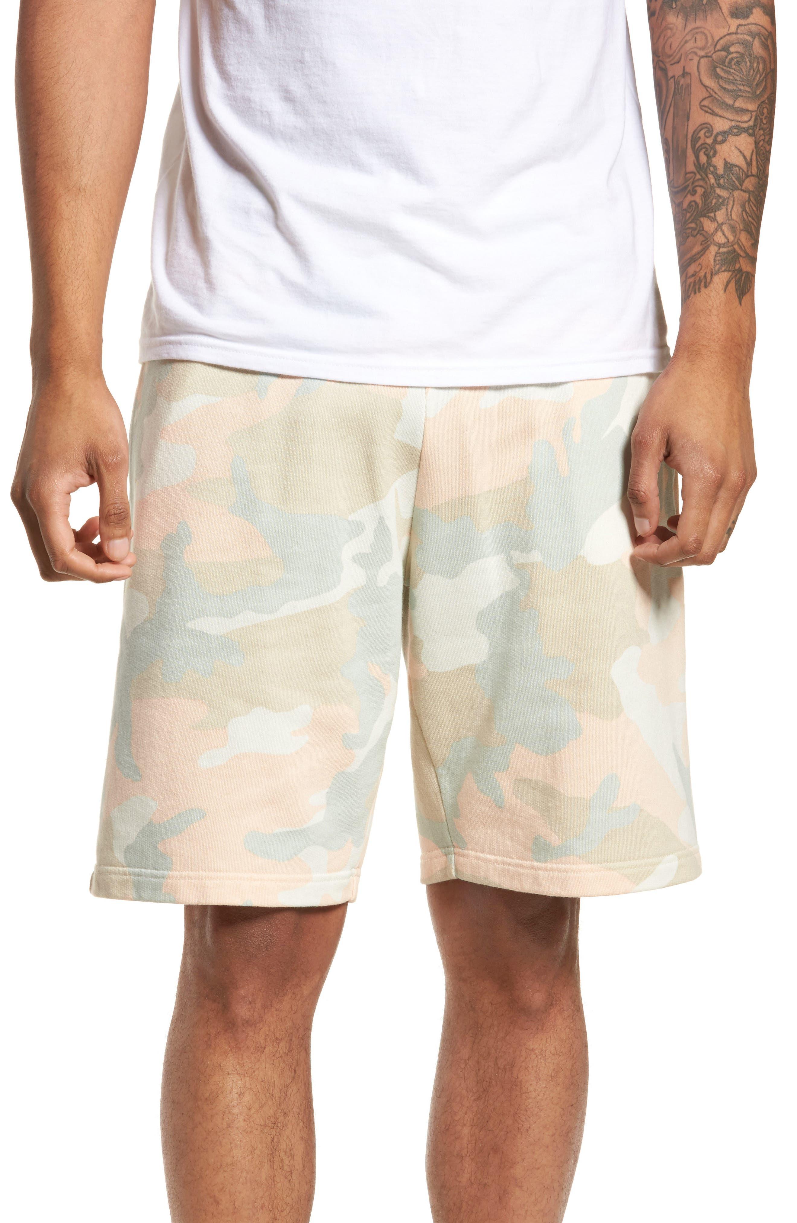 Marty Pastel Camo Fleece Shorts,                         Main,                         color, Pastel Woodland