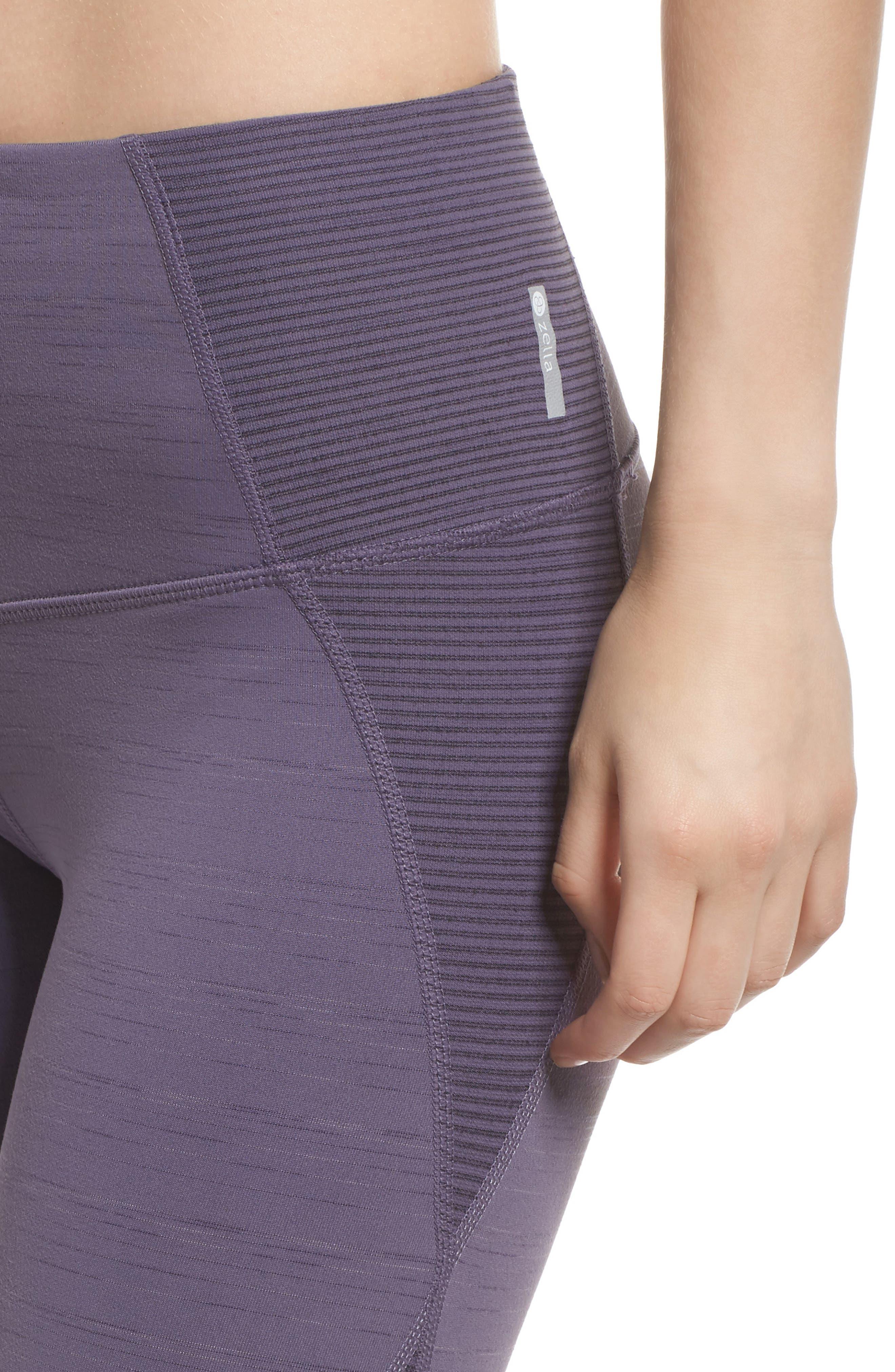 Alternate Image 4  - Zella Sporty Splice High Waist Crop Leggings