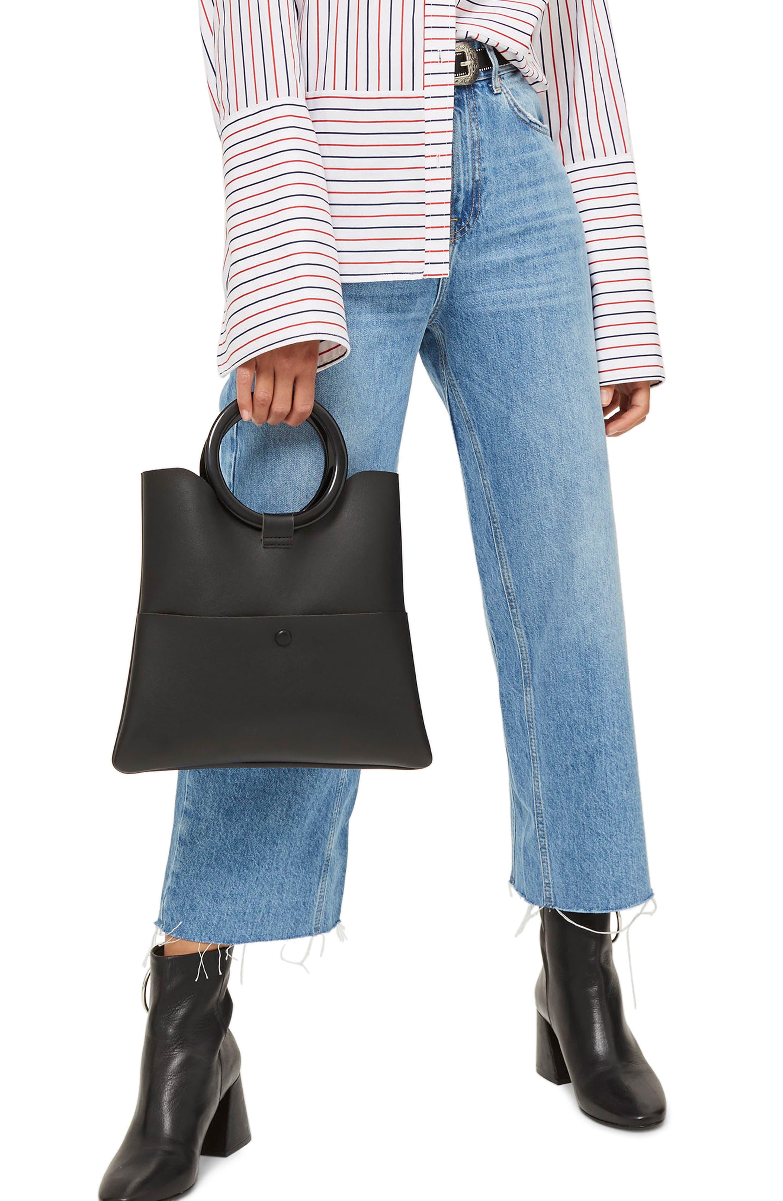 Topshop Wide Leg Crop Jeans (Petite)