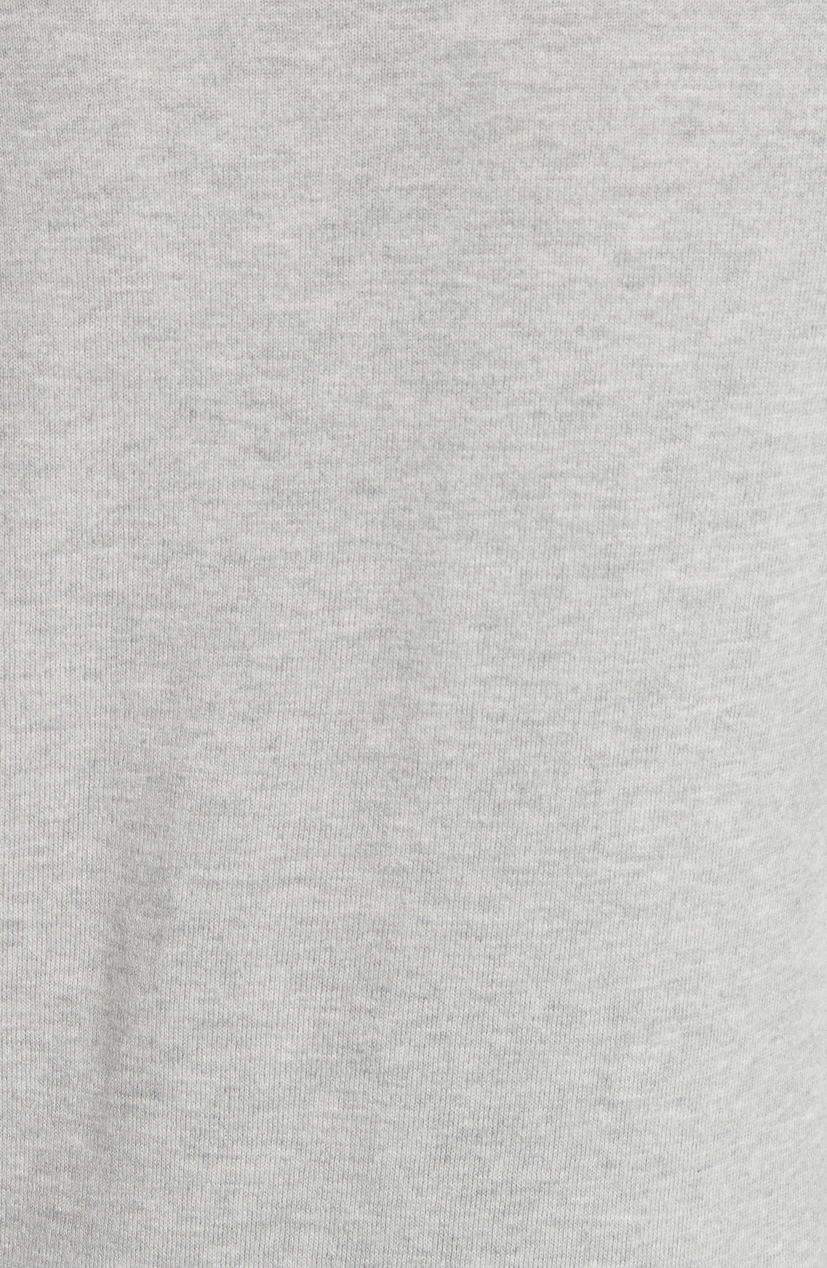 Cotton & Cashmere Sweater,                             Alternate thumbnail 5, color,                             Light Heather Grey