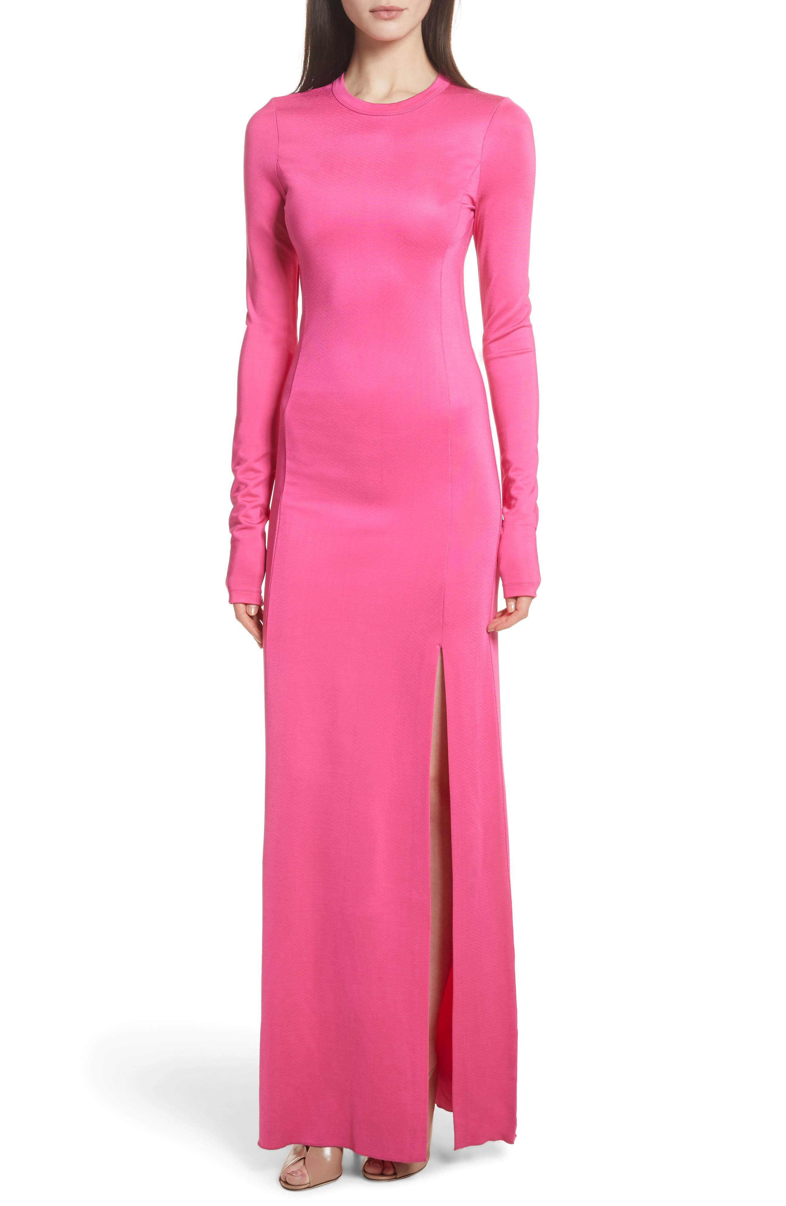 Elizabeth and James Fallon Slit Skirt Jersey Maxi Dress