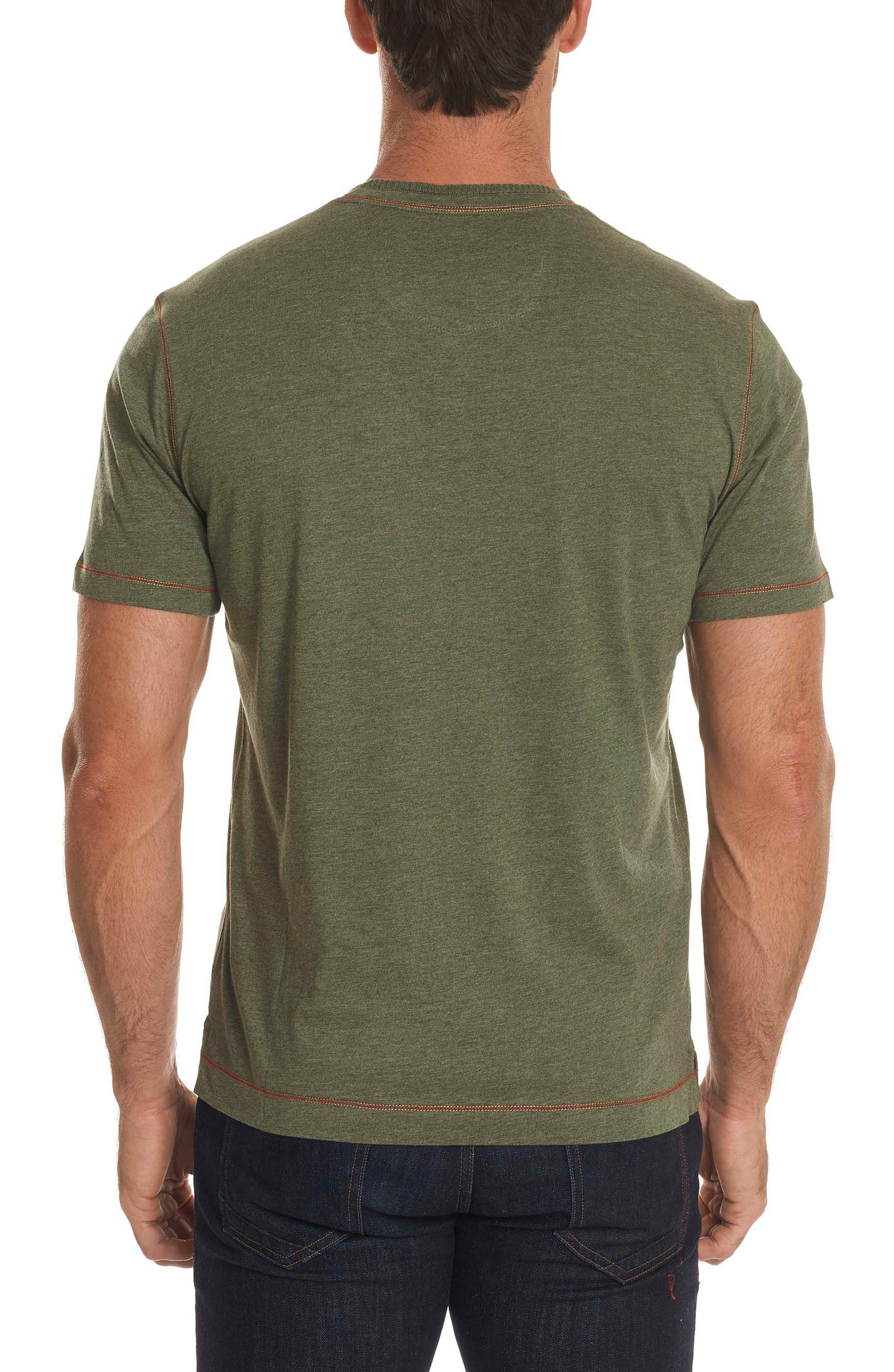 Traveler V-Neck T-Shirt,                             Alternate thumbnail 2, color,                             Army