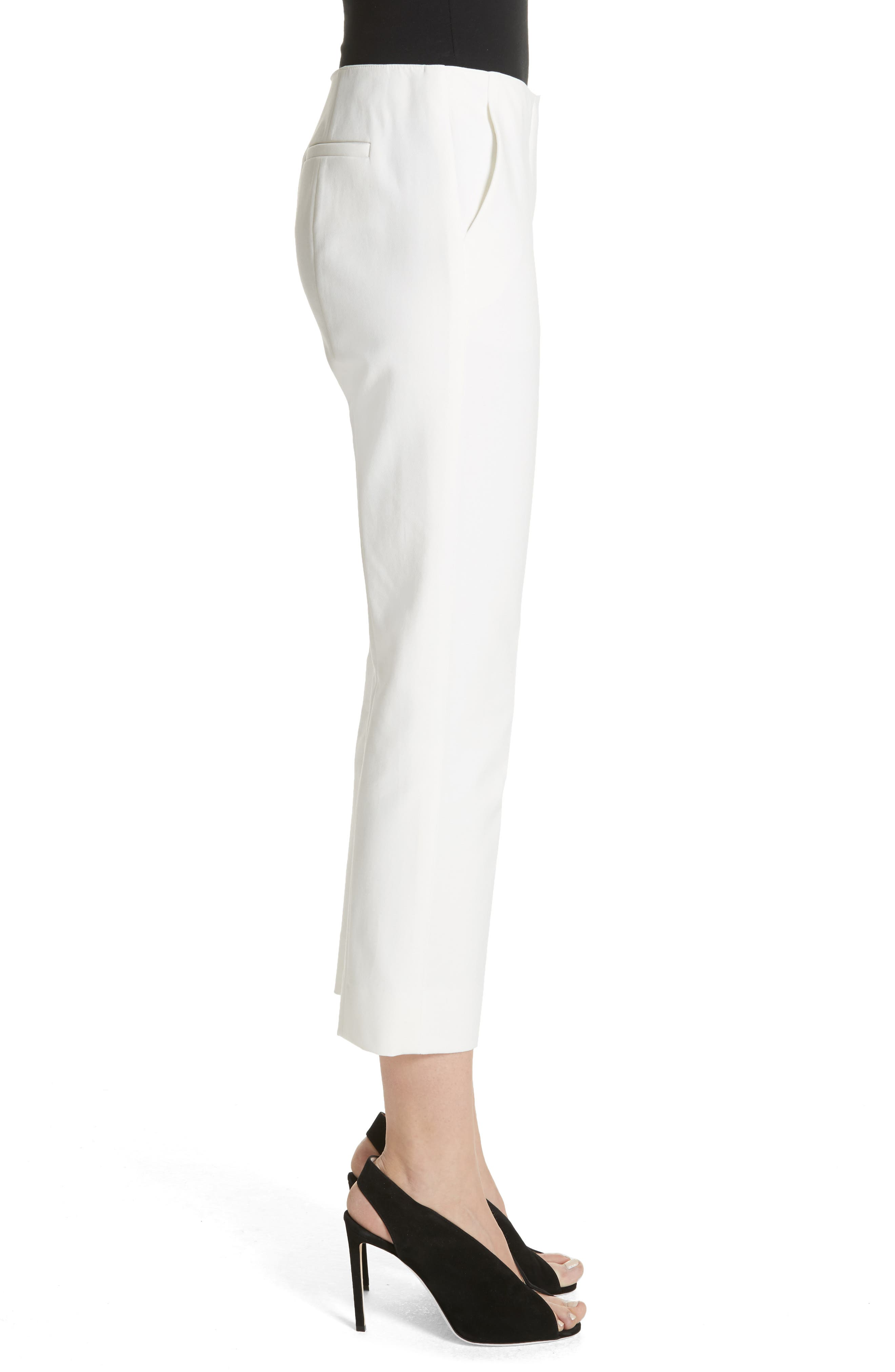 Tech Cotton Blend Pants,                             Alternate thumbnail 3, color,                             Warm White