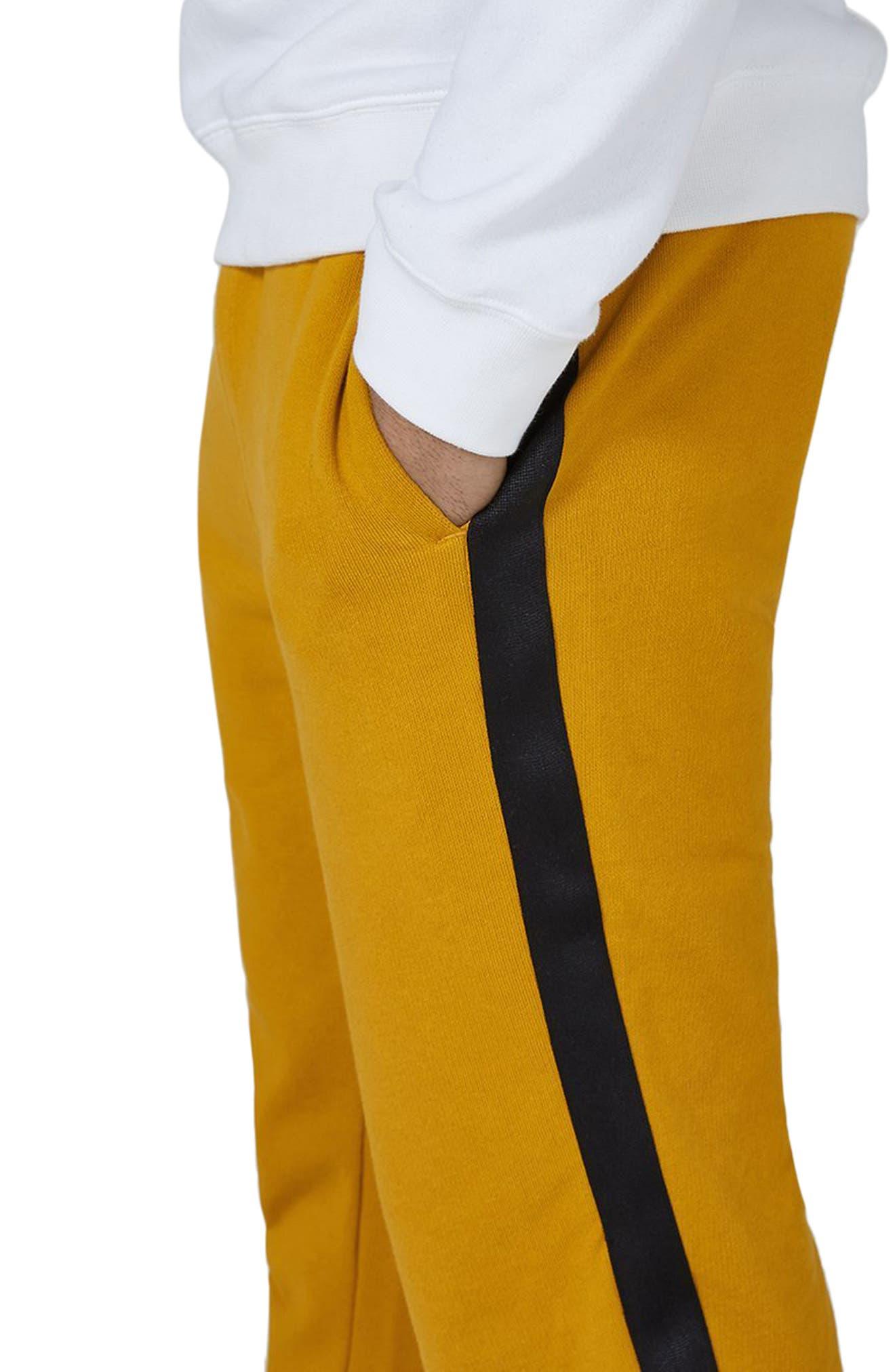 Side Tape Classic Fit Jogger Pants,                             Alternate thumbnail 3, color,                             Yellow Multi