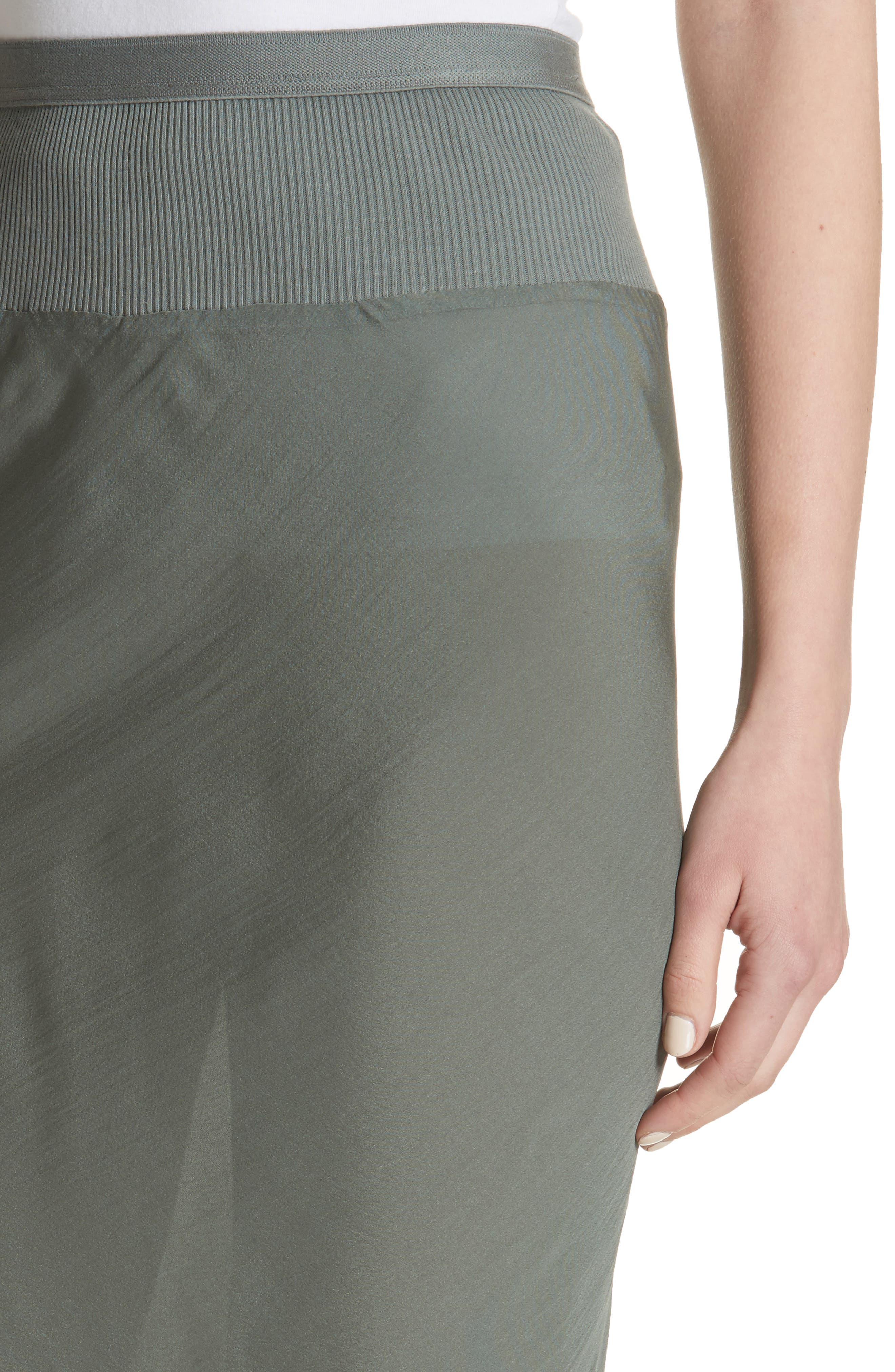Silk Chiffon Midi Skirt,                             Alternate thumbnail 4, color,                             Sage