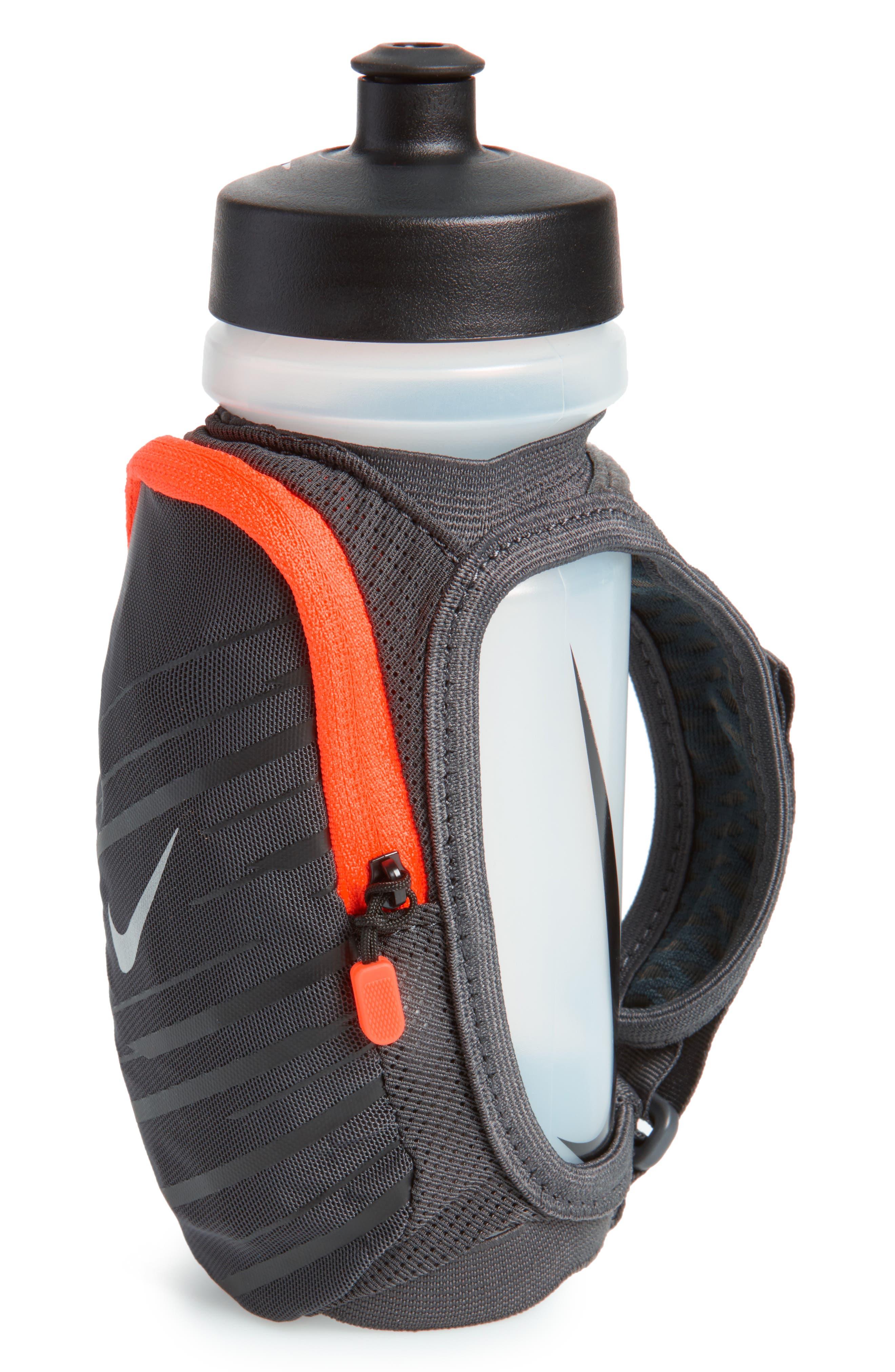 Handheld Water Bottle Strap,                         Main,                         color, Anthracite/ Black/ Silver