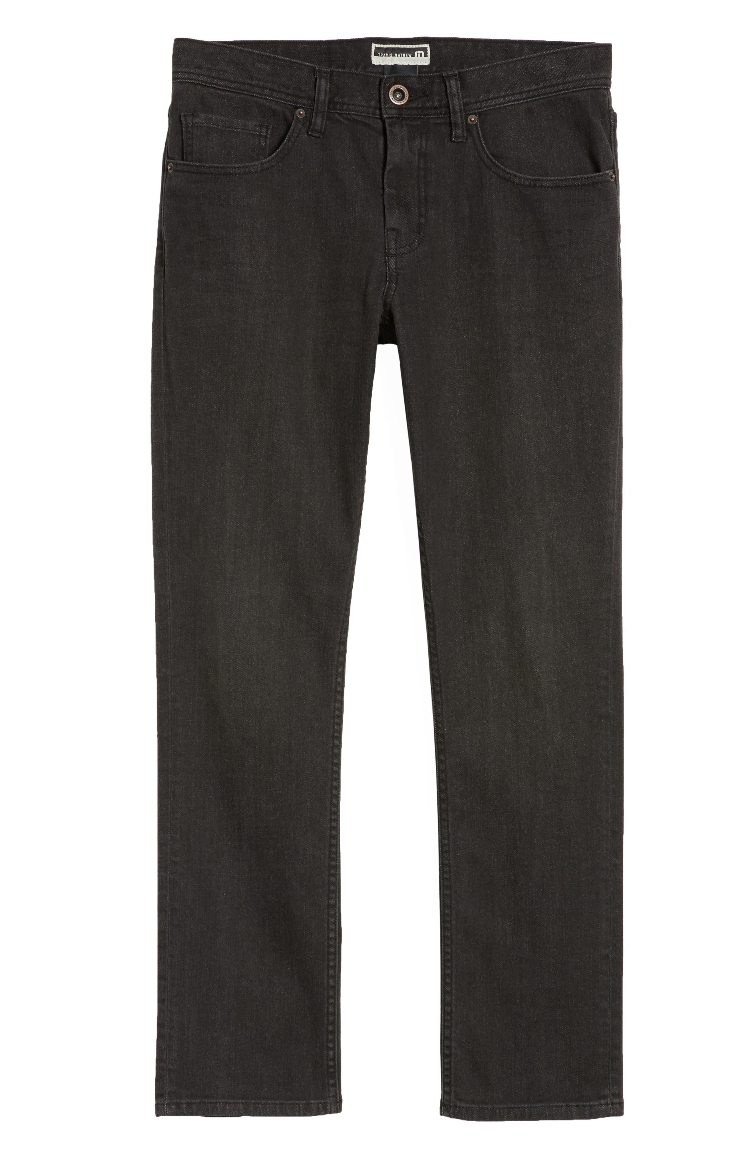 The Standard Regular Fit Straight Leg Jeans,                             Alternate thumbnail 6, color,                             Charcoal