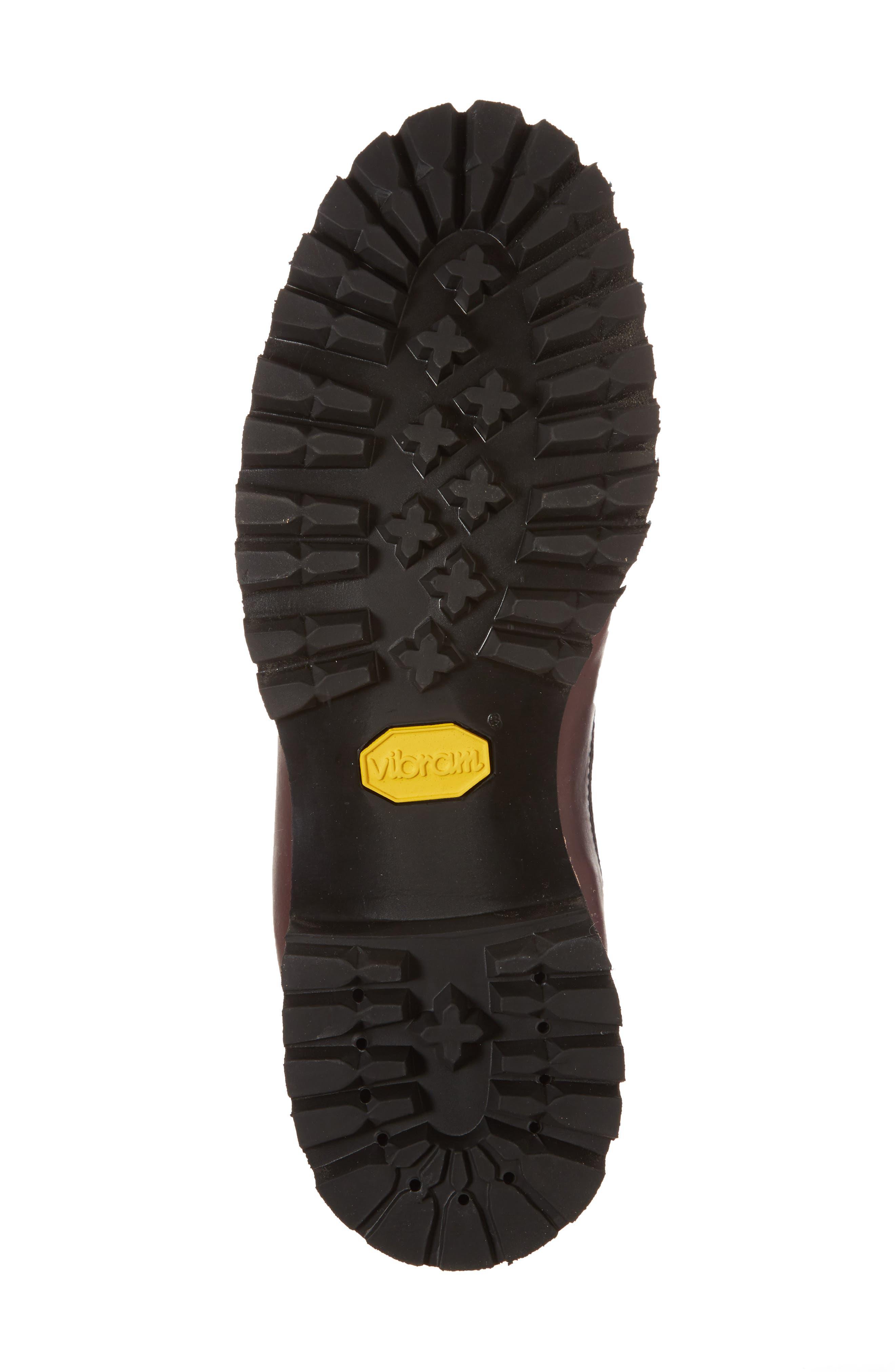 Plain Toe Boot,                             Alternate thumbnail 6, color,                             Burgundy Chromexel Horween