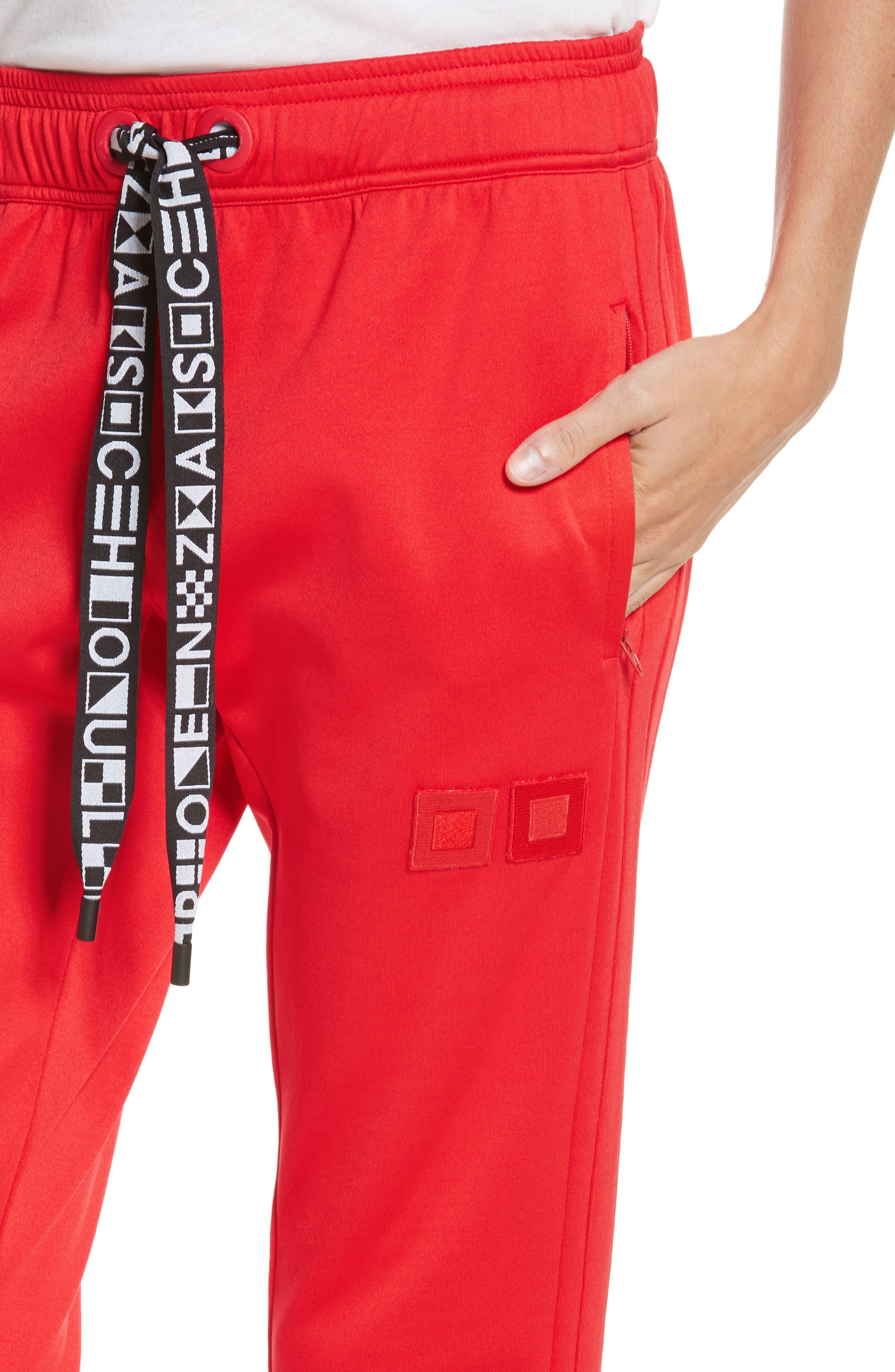 PSWL Jersey Track Pants,                             Alternate thumbnail 6, color,                             Poppy