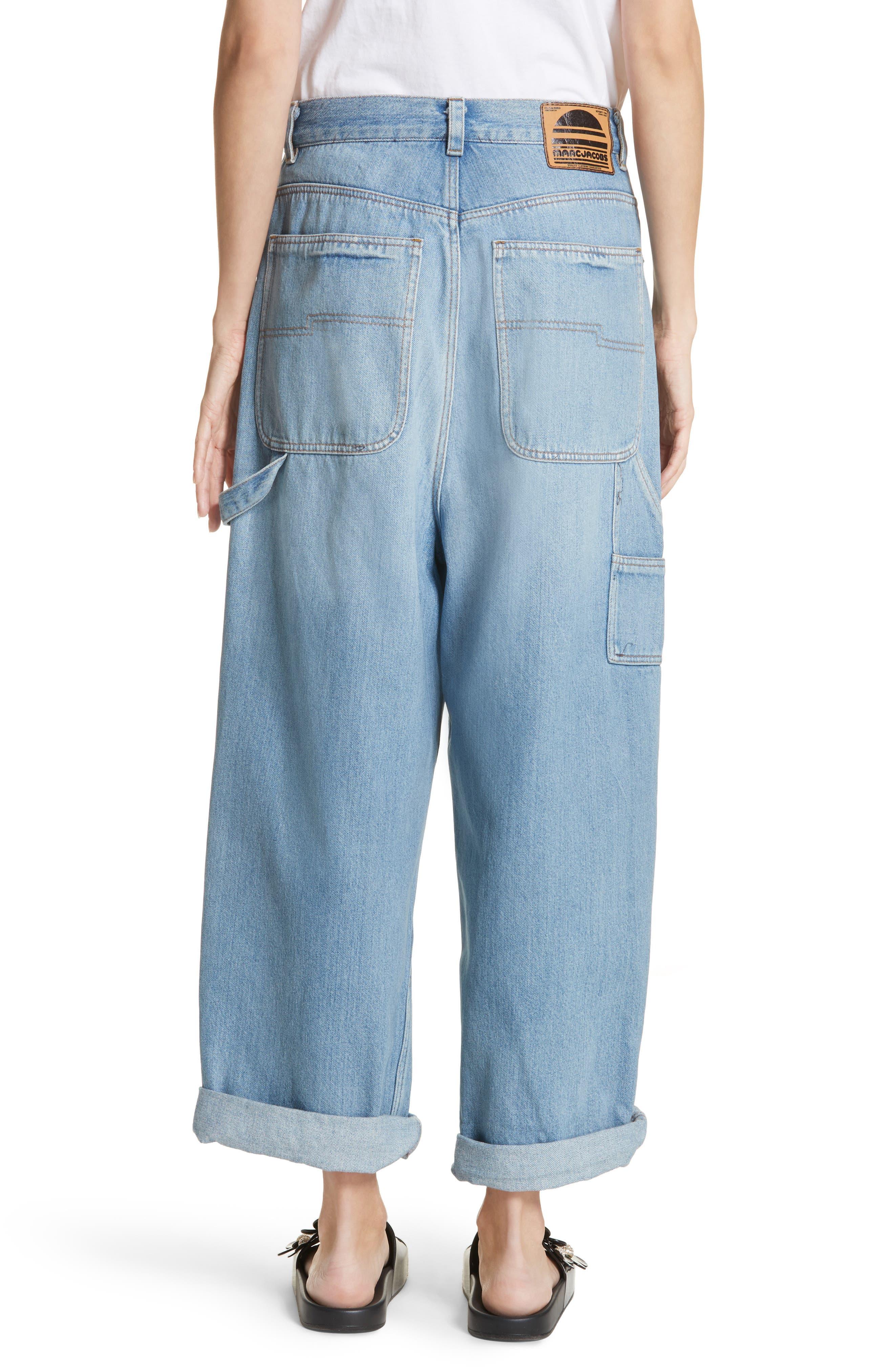 Wide Leg Carpenter Jeans,                             Alternate thumbnail 4, color,                             Vintage Indigo