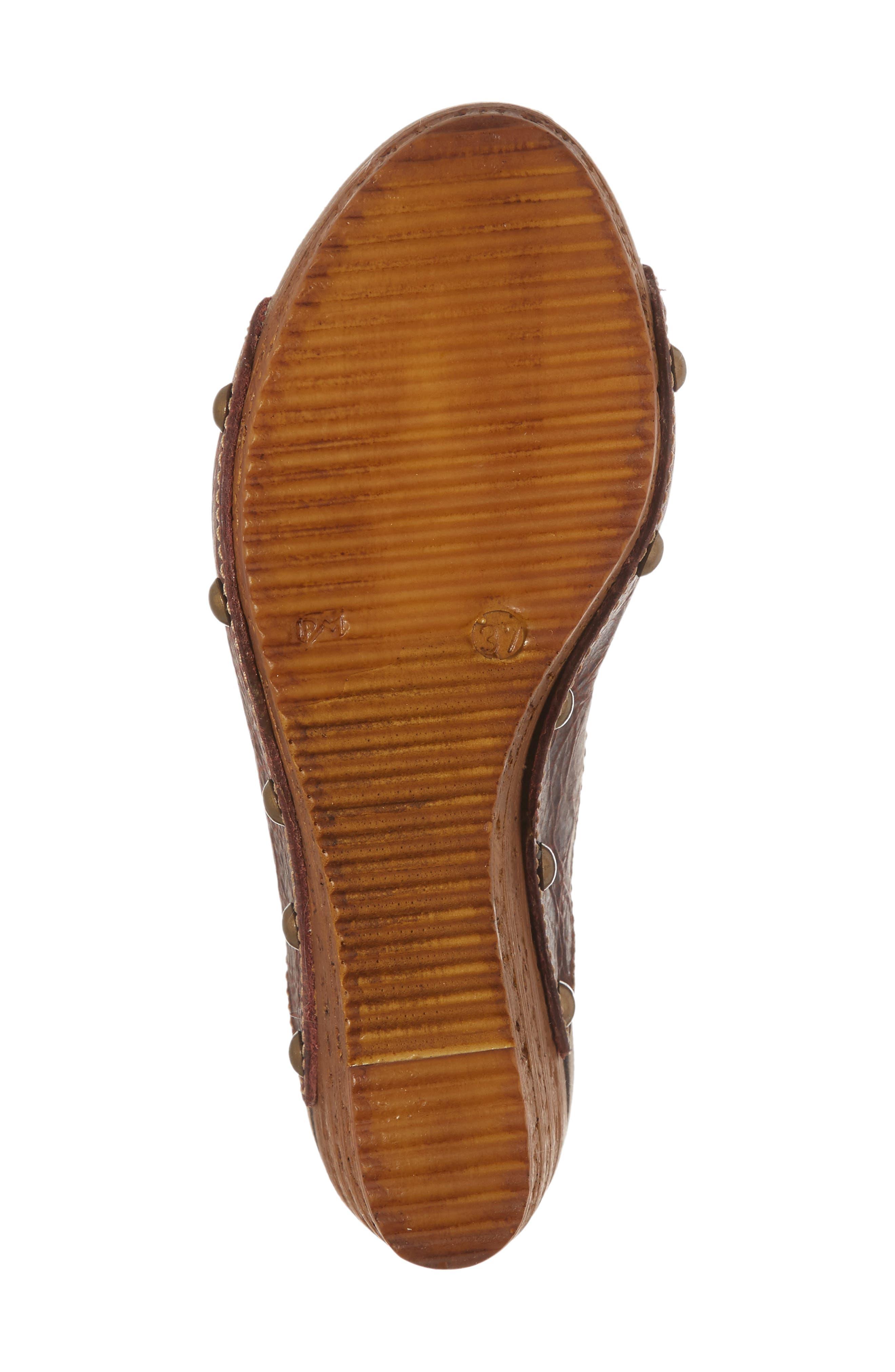 Genesis Platform Wedge Sandal,                             Alternate thumbnail 6, color,                             Wine