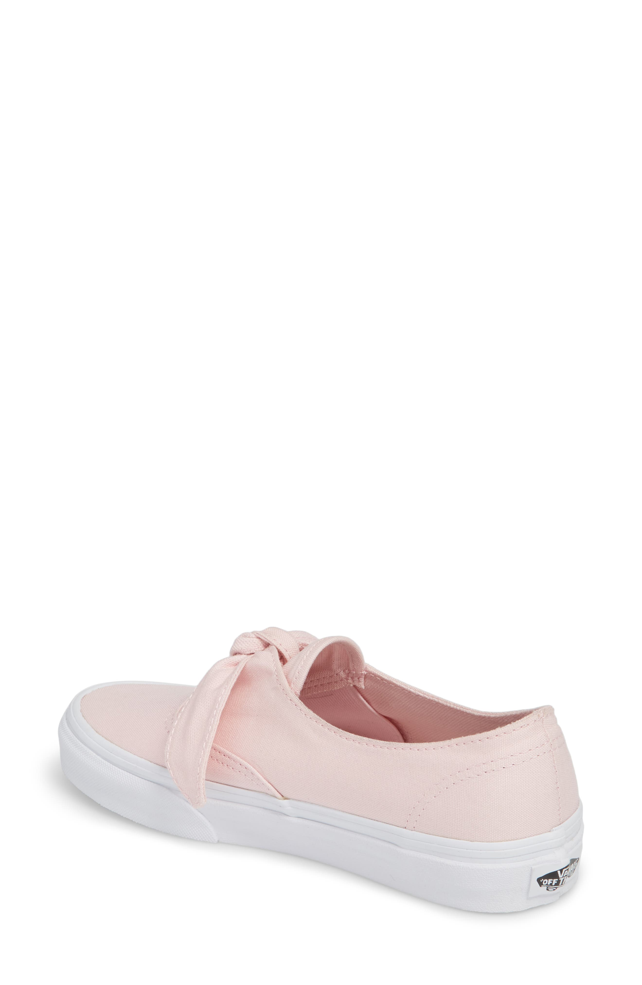 UA Authentic Knotted Slip-On Sneaker,                             Alternate thumbnail 2, color,                             Chalk Pink/ True White