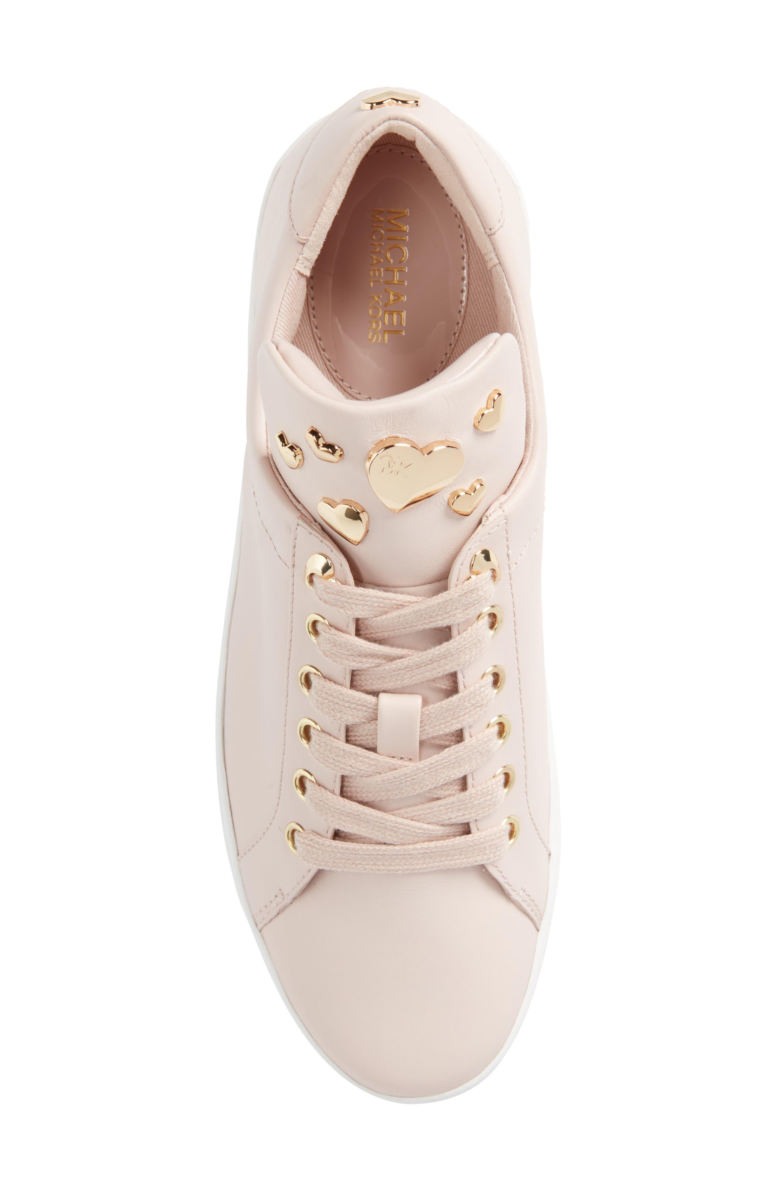 Mindy Platform Sneaker,                             Alternate thumbnail 5, color,                             Soft Pink Studs