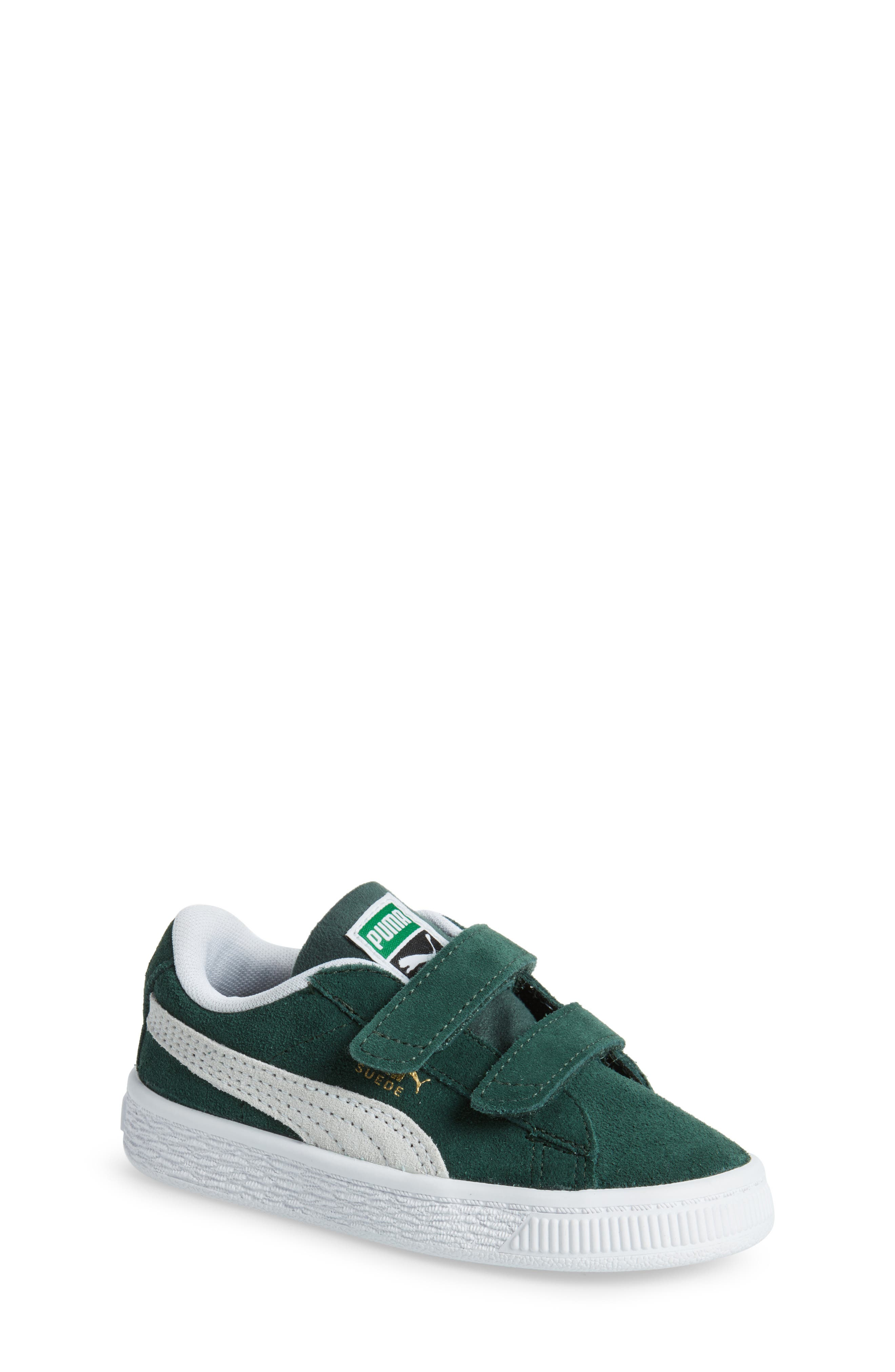 puma shoes green and white bedding
