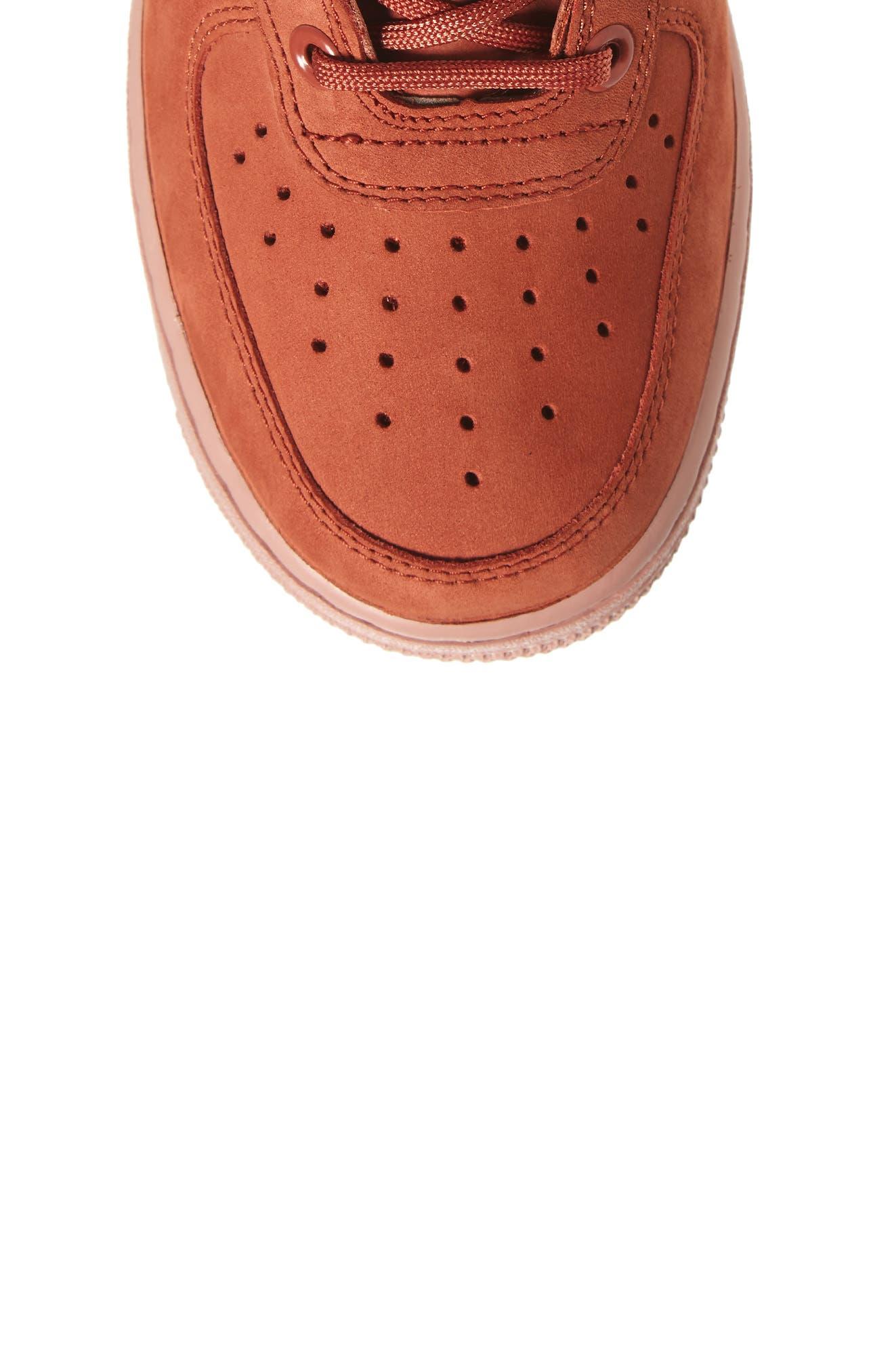 SF Air Force 1 High Top Sneaker,                             Alternate thumbnail 5, color,                             Dusty Peach/ Dusty Peach
