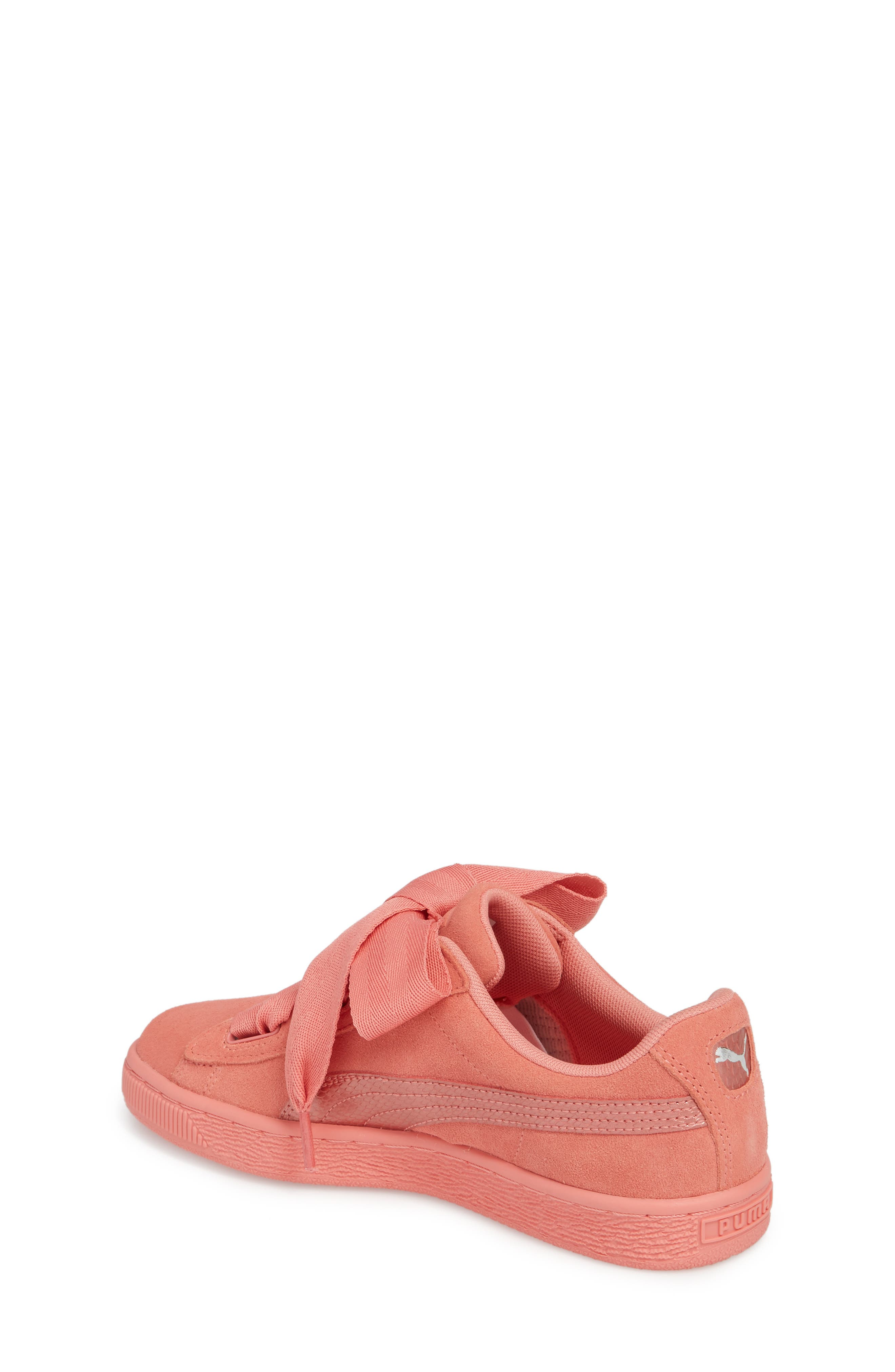 Suede Heart Sneaker,                             Alternate thumbnail 2, color,                             Shell Pink/ Shell Pink