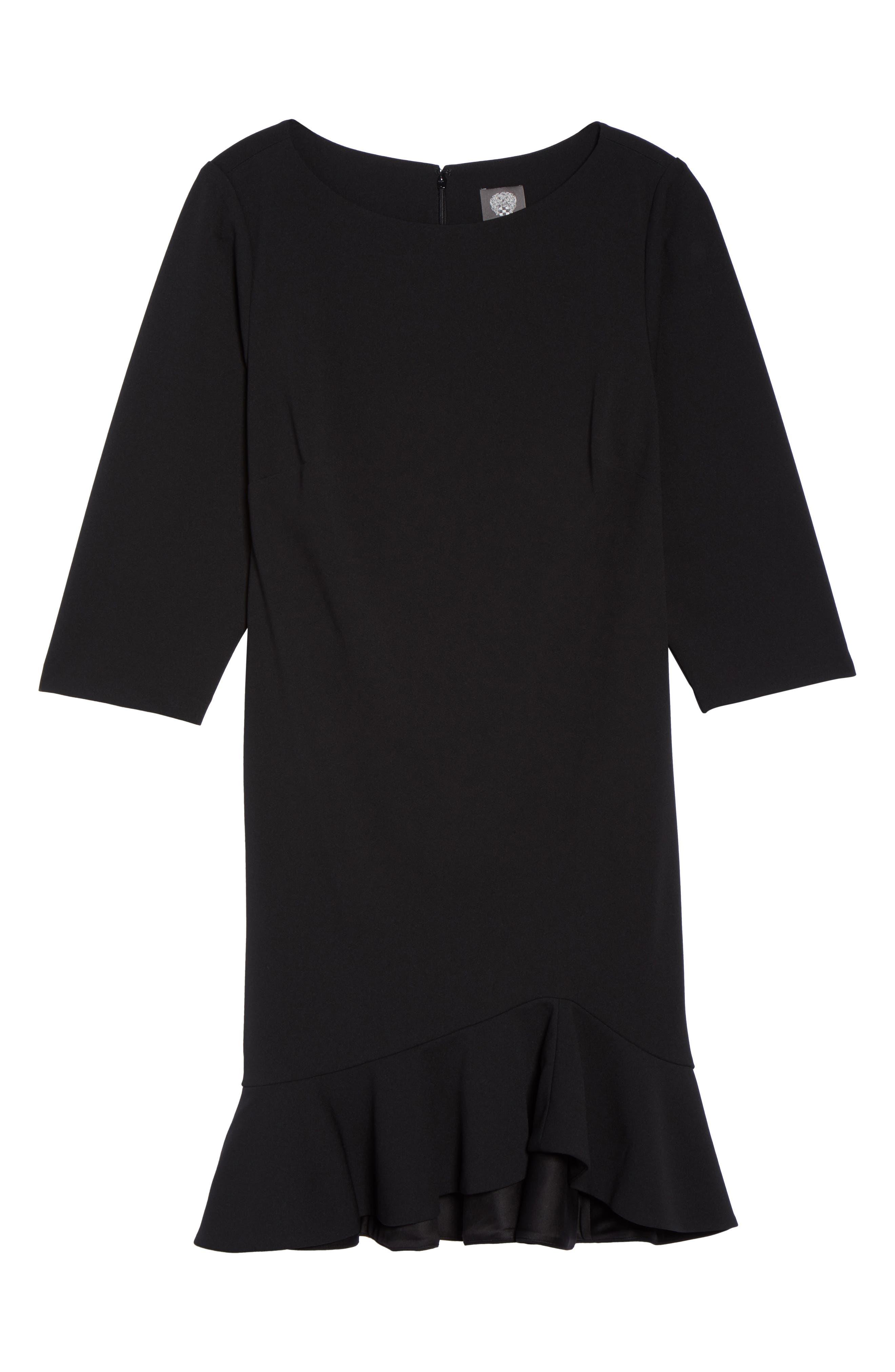 Alternate Image 6  - Vince Camuto Scuba Crepe Sheath Dress (Plus Size)