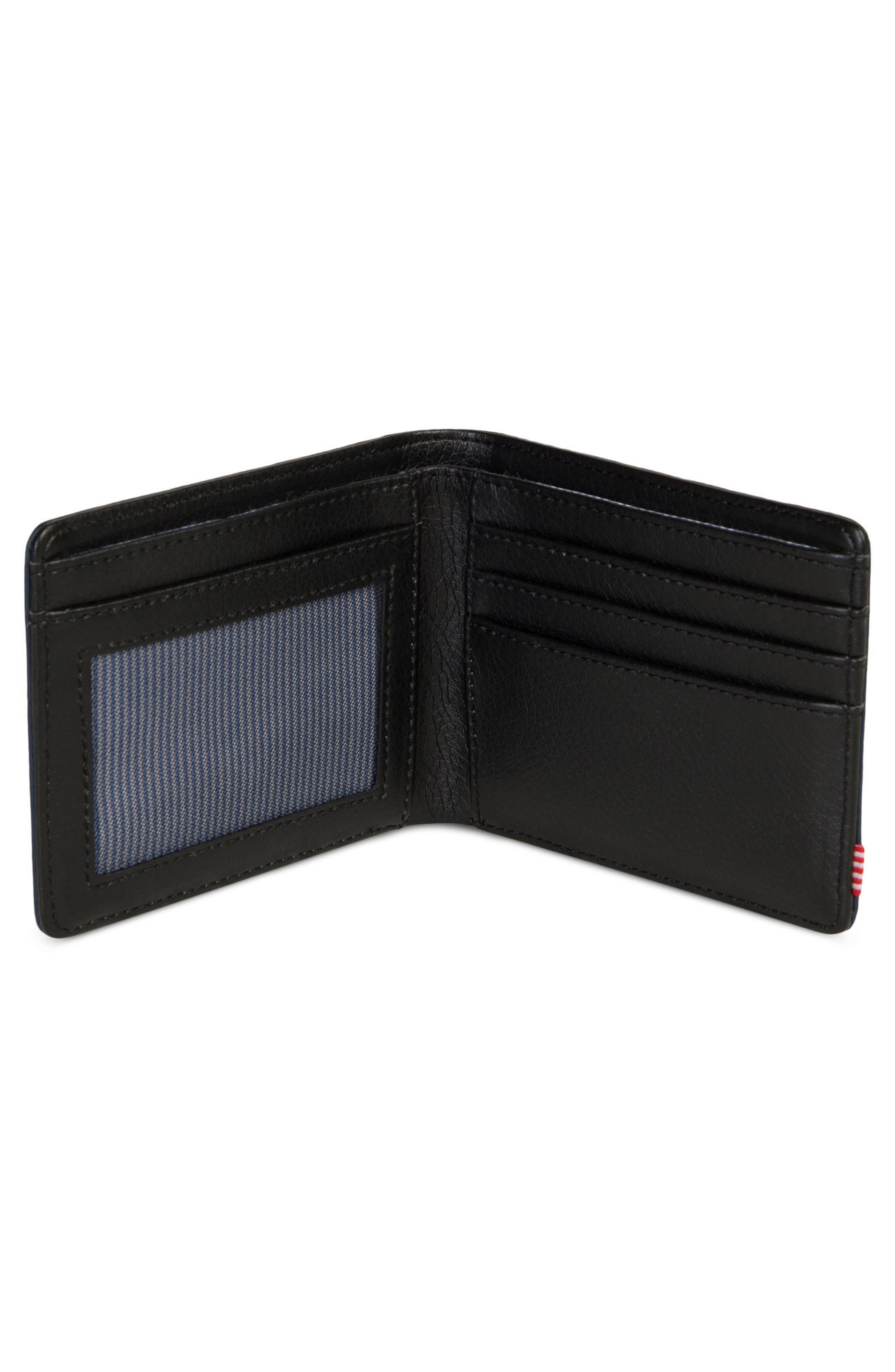 Hank Leather Wallet,                             Alternate thumbnail 2, color,                             Black