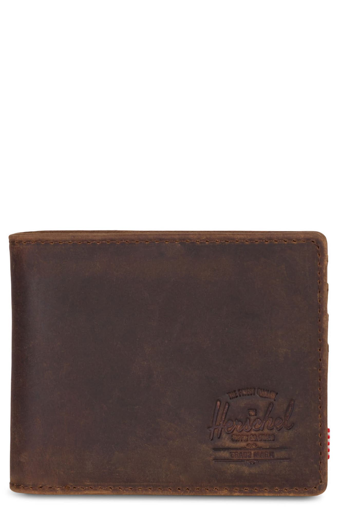Roy Leather Wallet,                             Main thumbnail 1, color,                             Brown