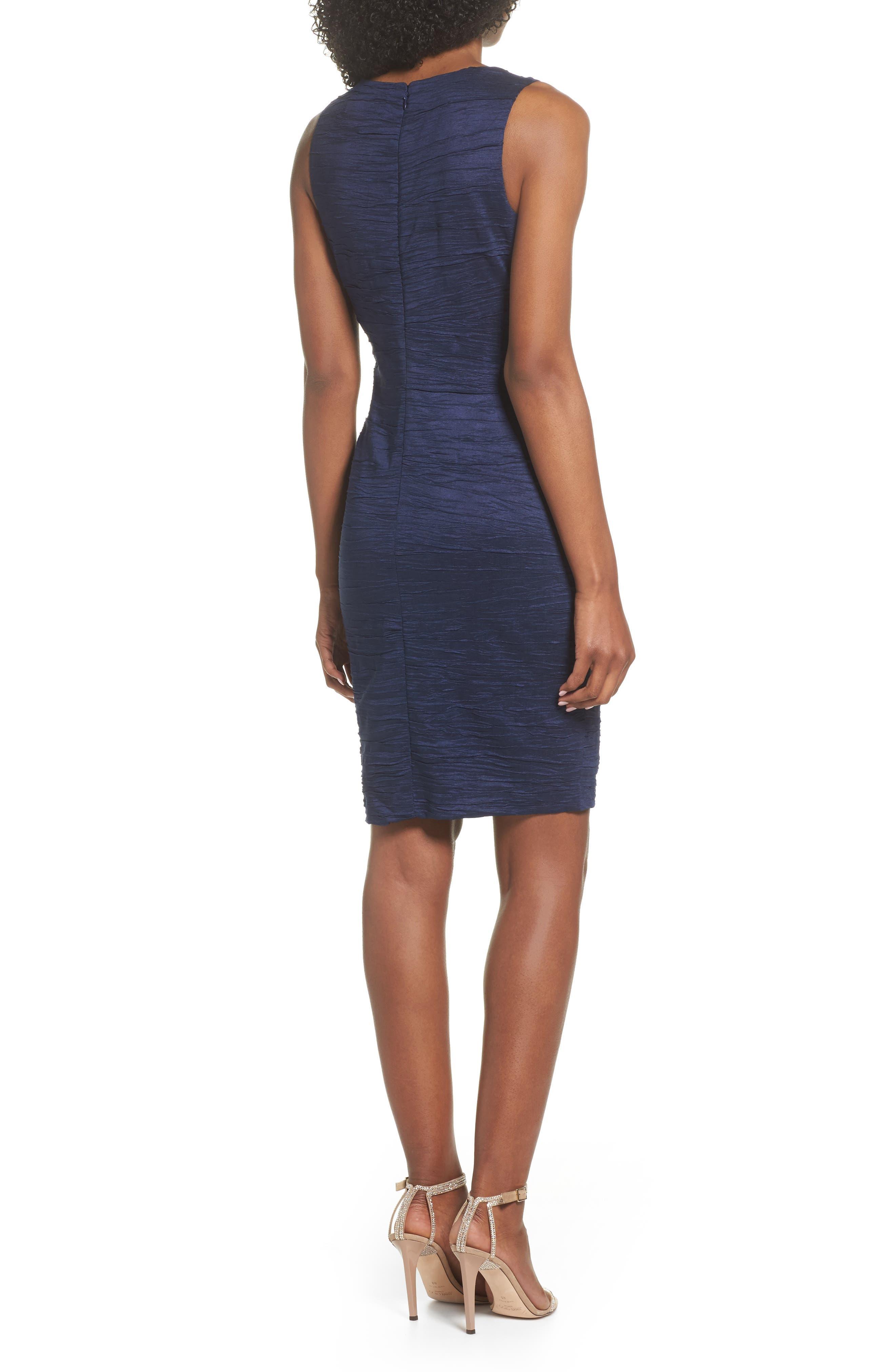 Alternate Image 2  - Eliza J Embellished Cutout Taffeta Sheath Dress (Regular & Petite)
