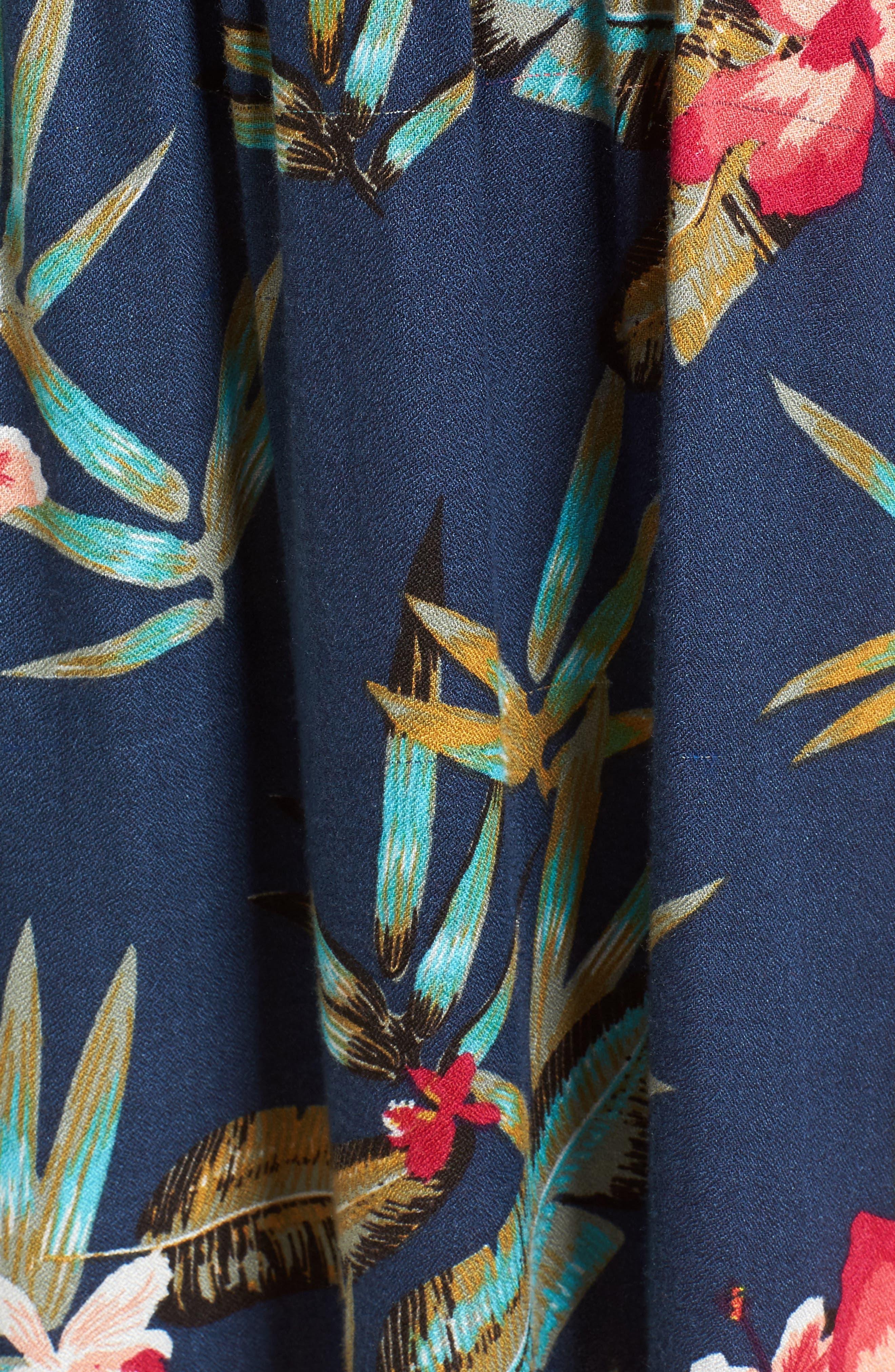 Do It My Way Cold Shoulder Sundress,                             Alternate thumbnail 5, color,                             Dress Blue Isle