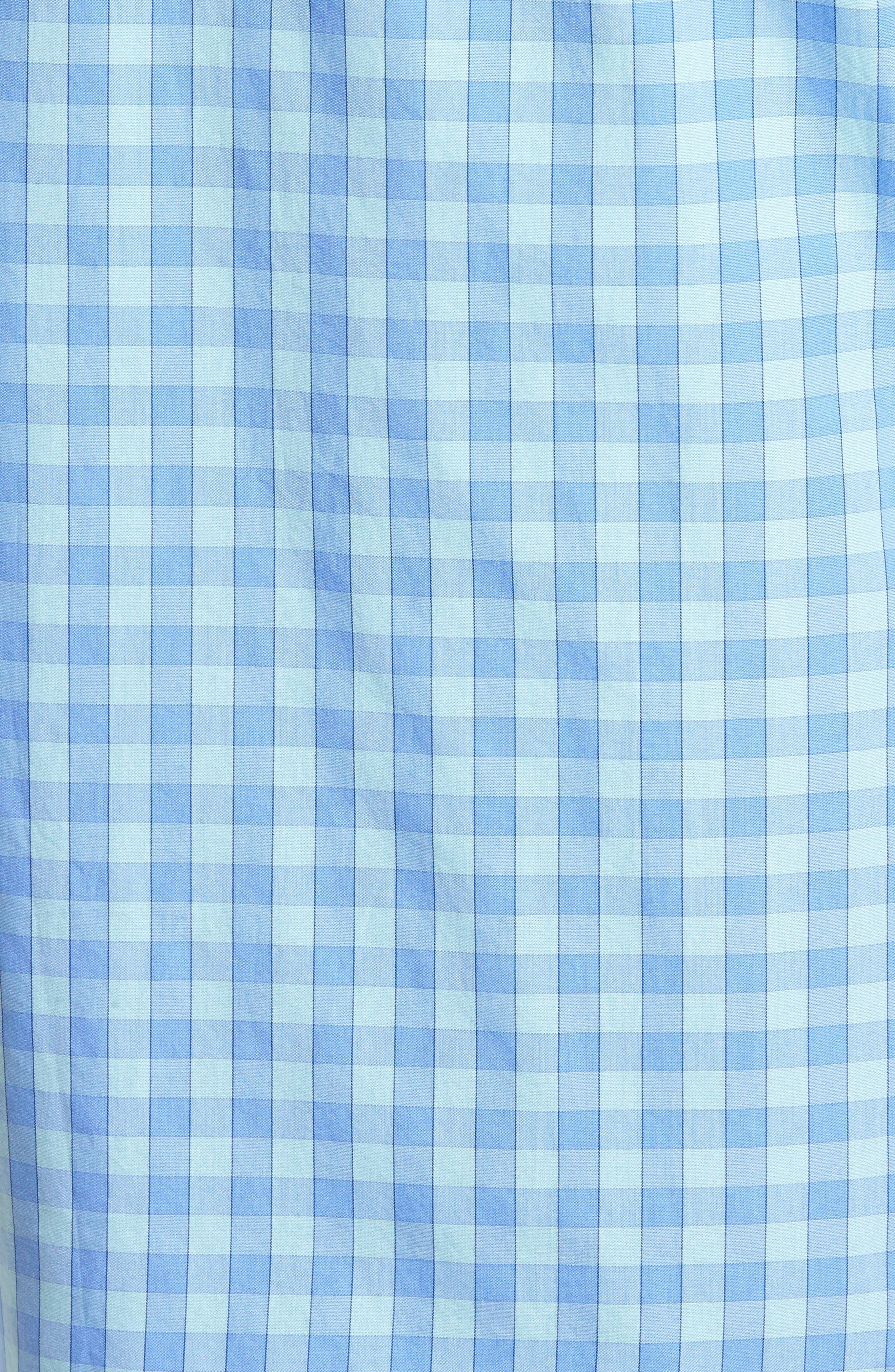 Unbutton Down 2.0 Slim Fit Gingham Sport Shirt,                             Alternate thumbnail 5, color,                             Sail Boat Gingham/ Island