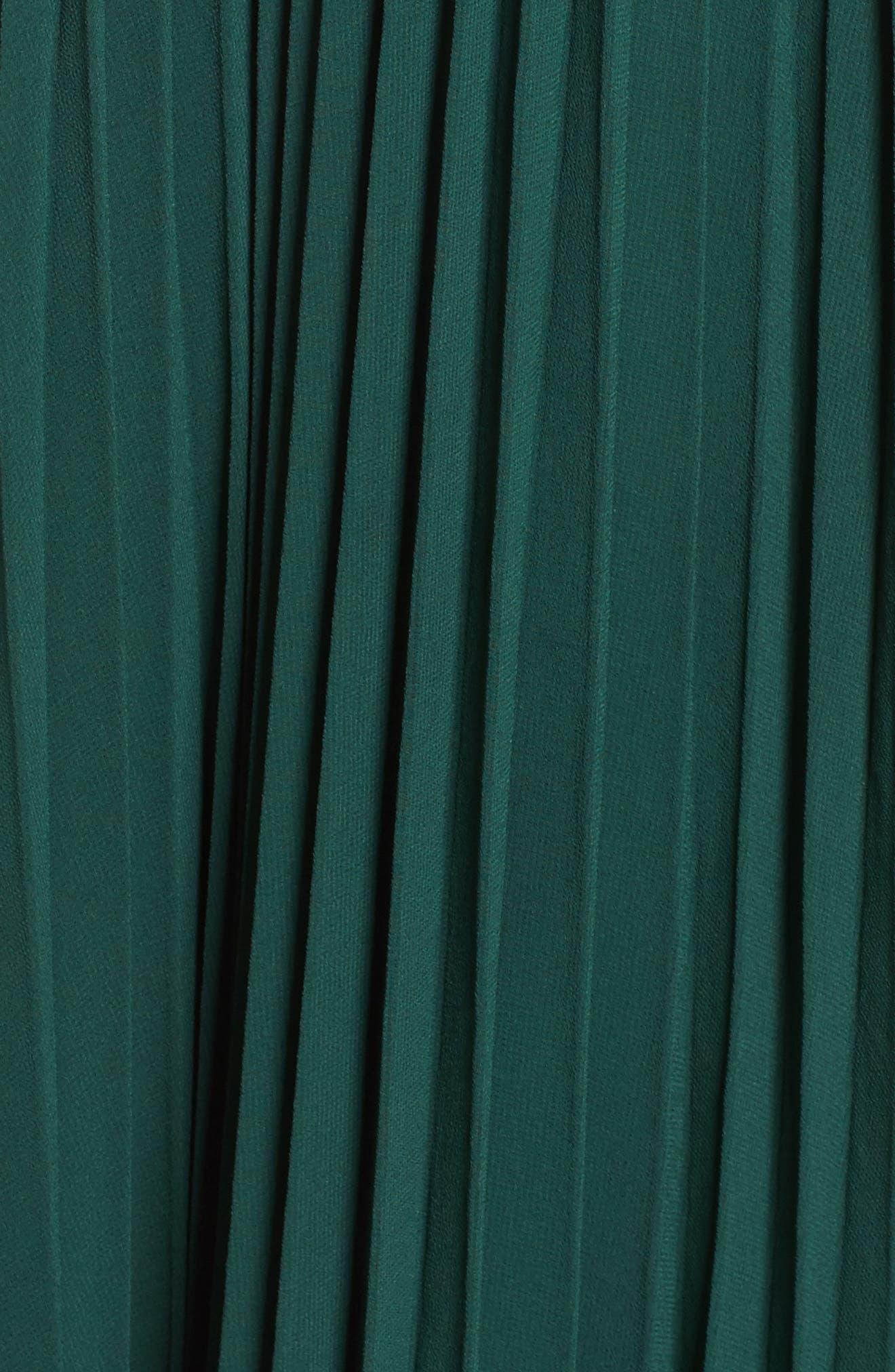 Fame & Partners Allegra Pleat Gown,                             Alternate thumbnail 5, color,                             Dark Forest