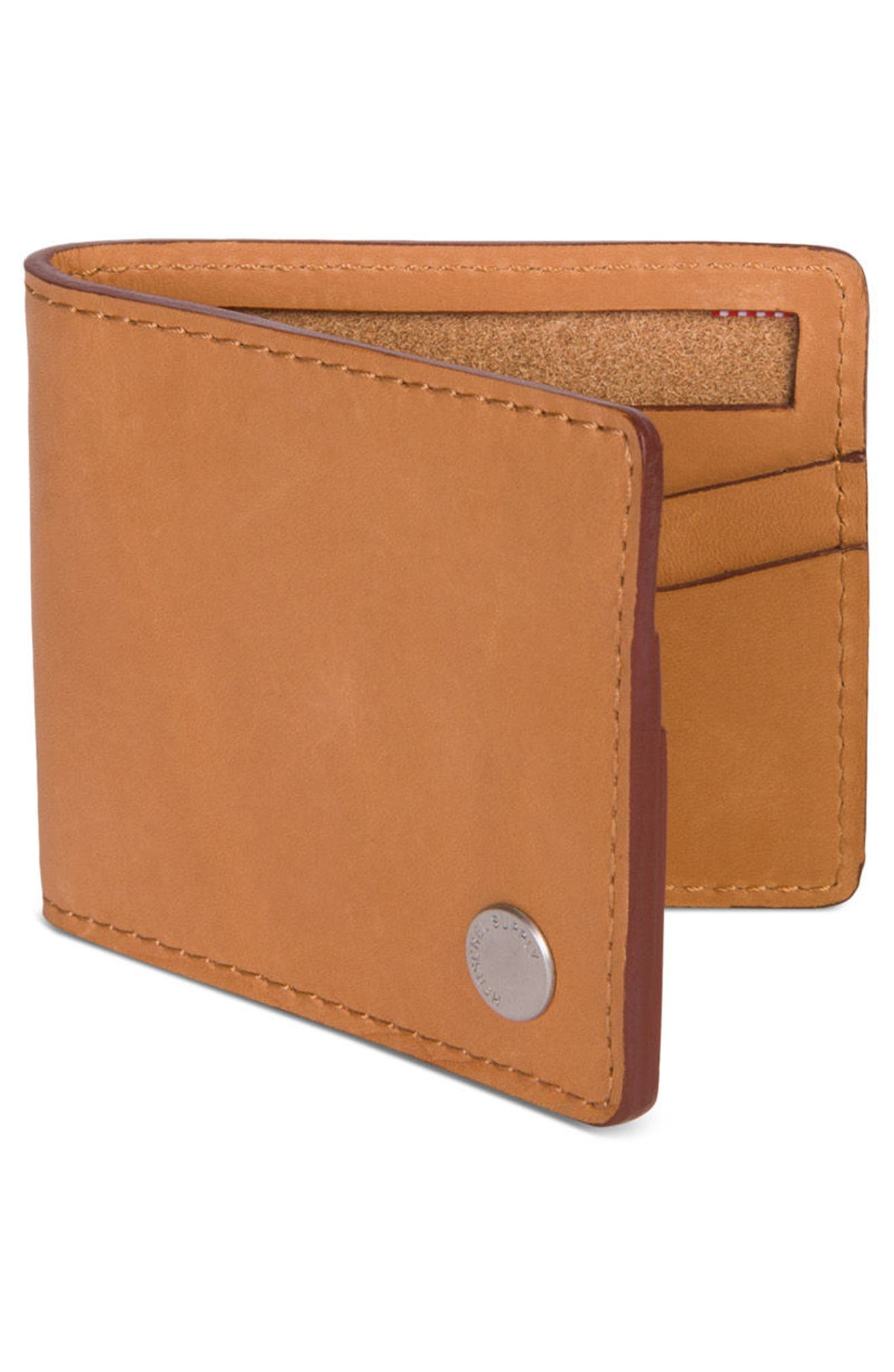 Vincent Saddle Leather Wallet,                             Alternate thumbnail 3, color,                             Tan