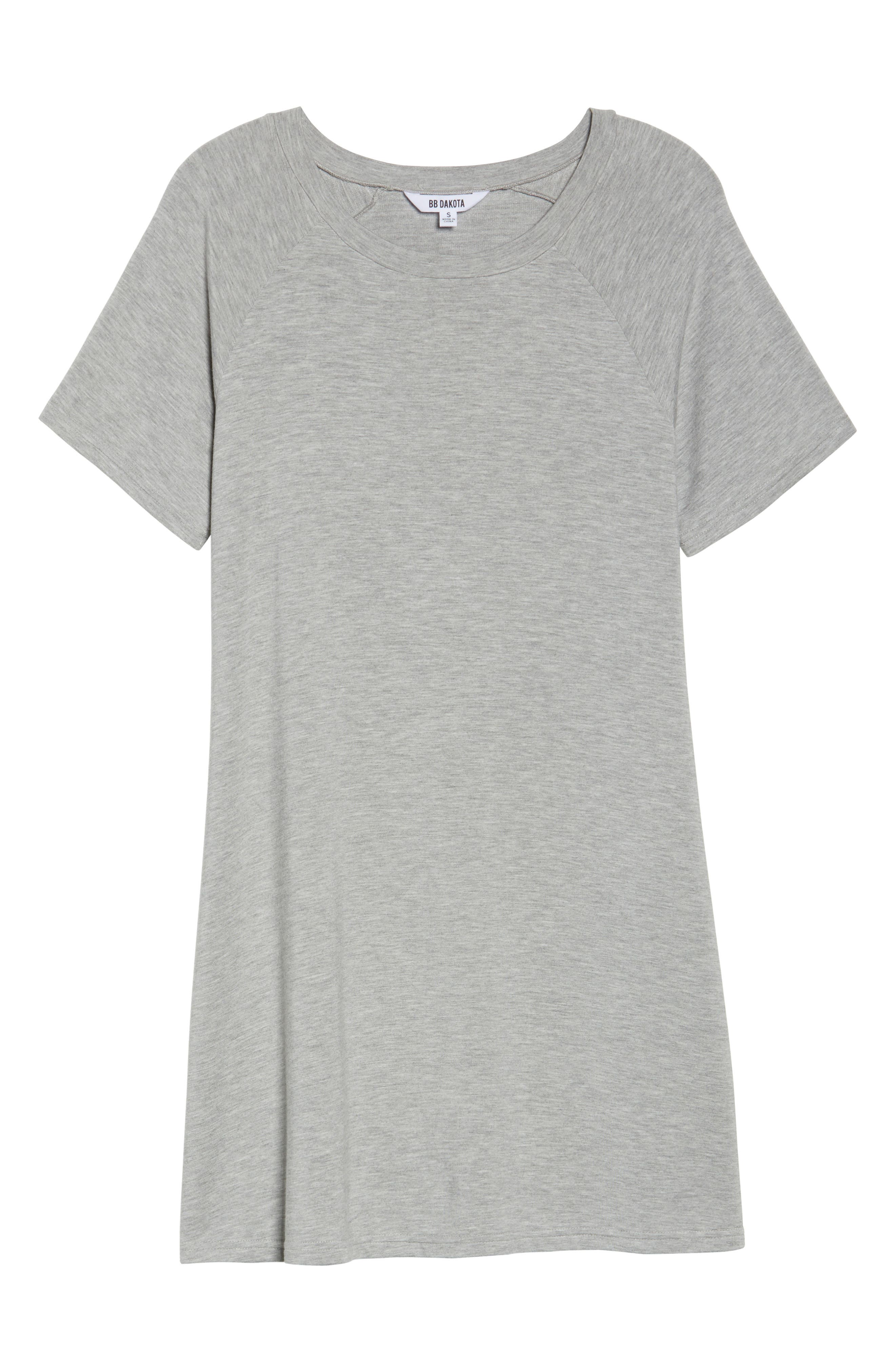 Greer Knit Shift Dress,                             Alternate thumbnail 6, color,                             Light Heather Grey