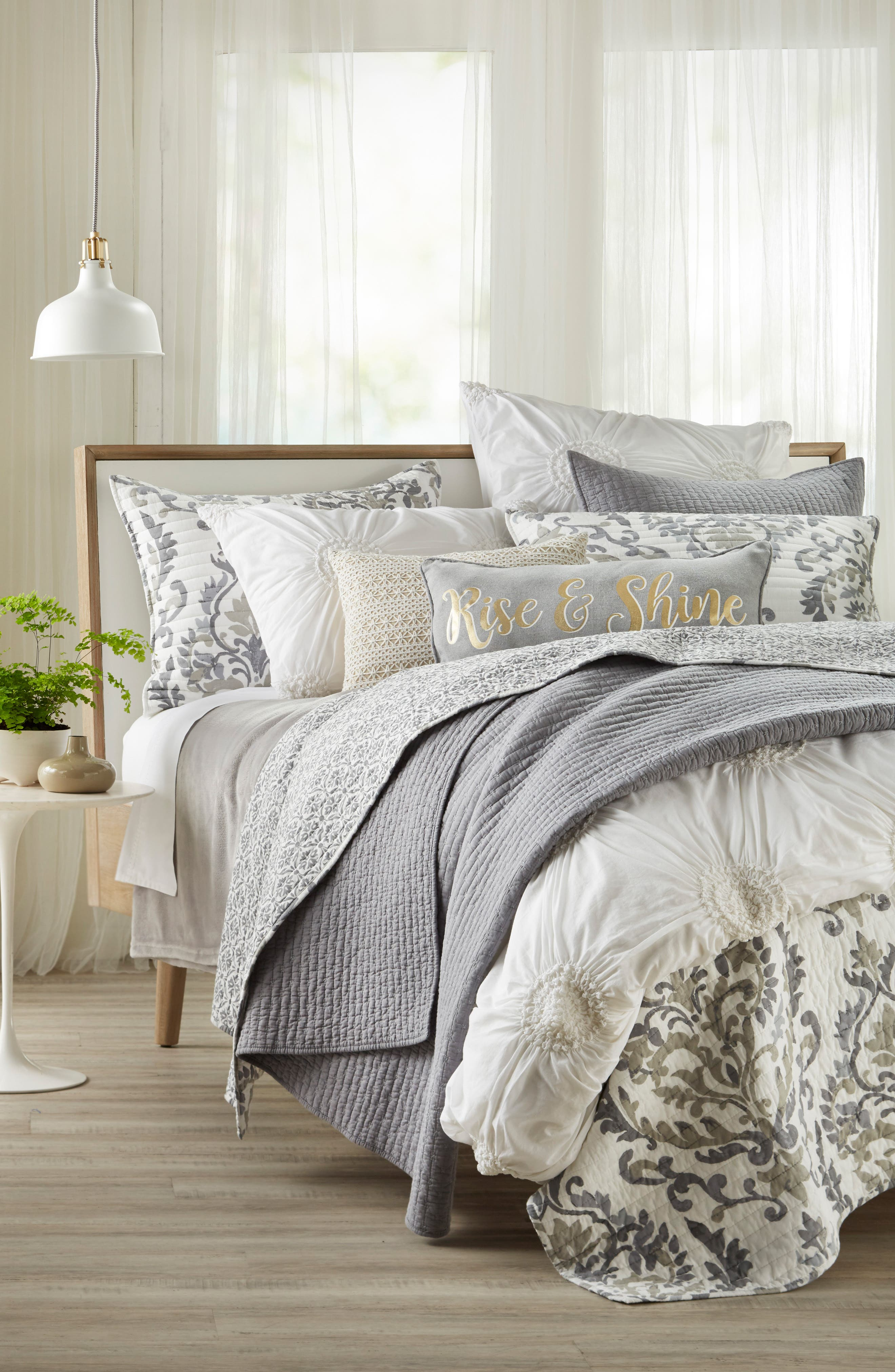 Arden Standard Sham,                             Alternate thumbnail 2, color,                             Grey