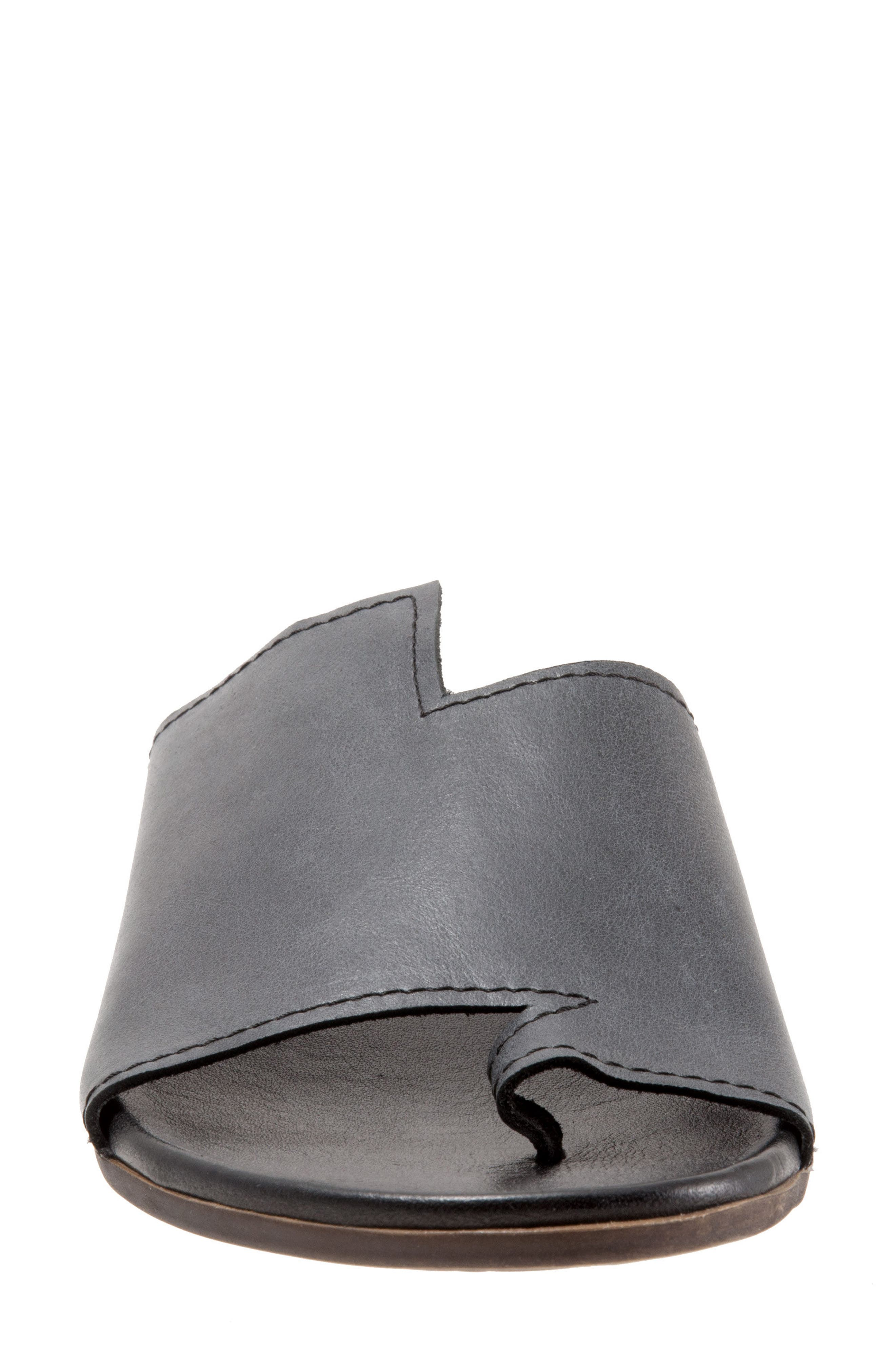 Tulla Sandal,                             Alternate thumbnail 4, color,                             Black Leather