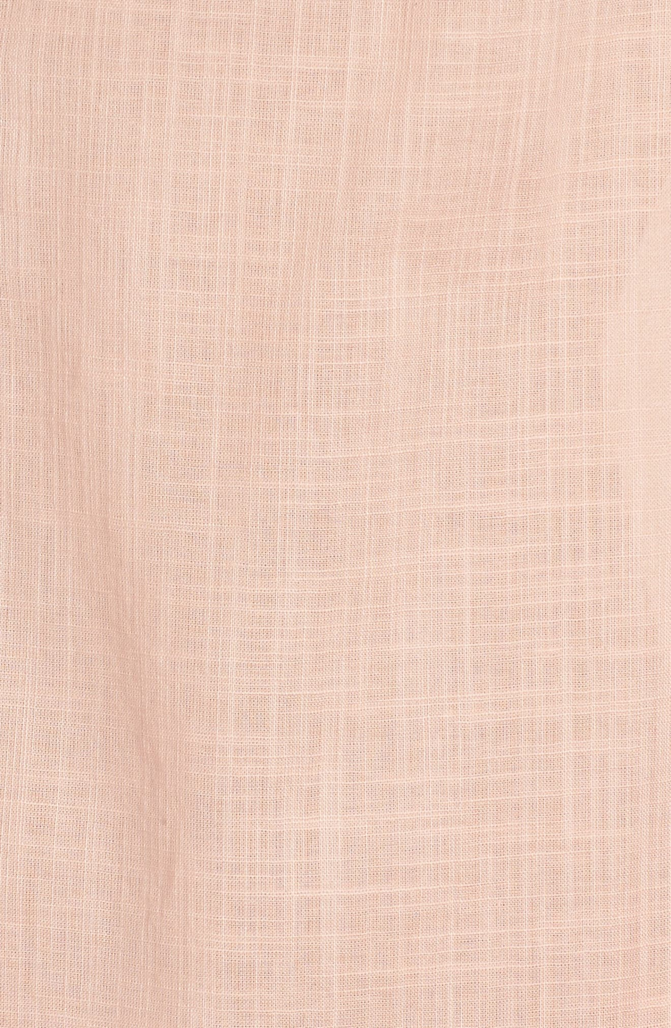 Palm Beach Cover-Up Dress,                             Alternate thumbnail 5, color,                             Peach Melba