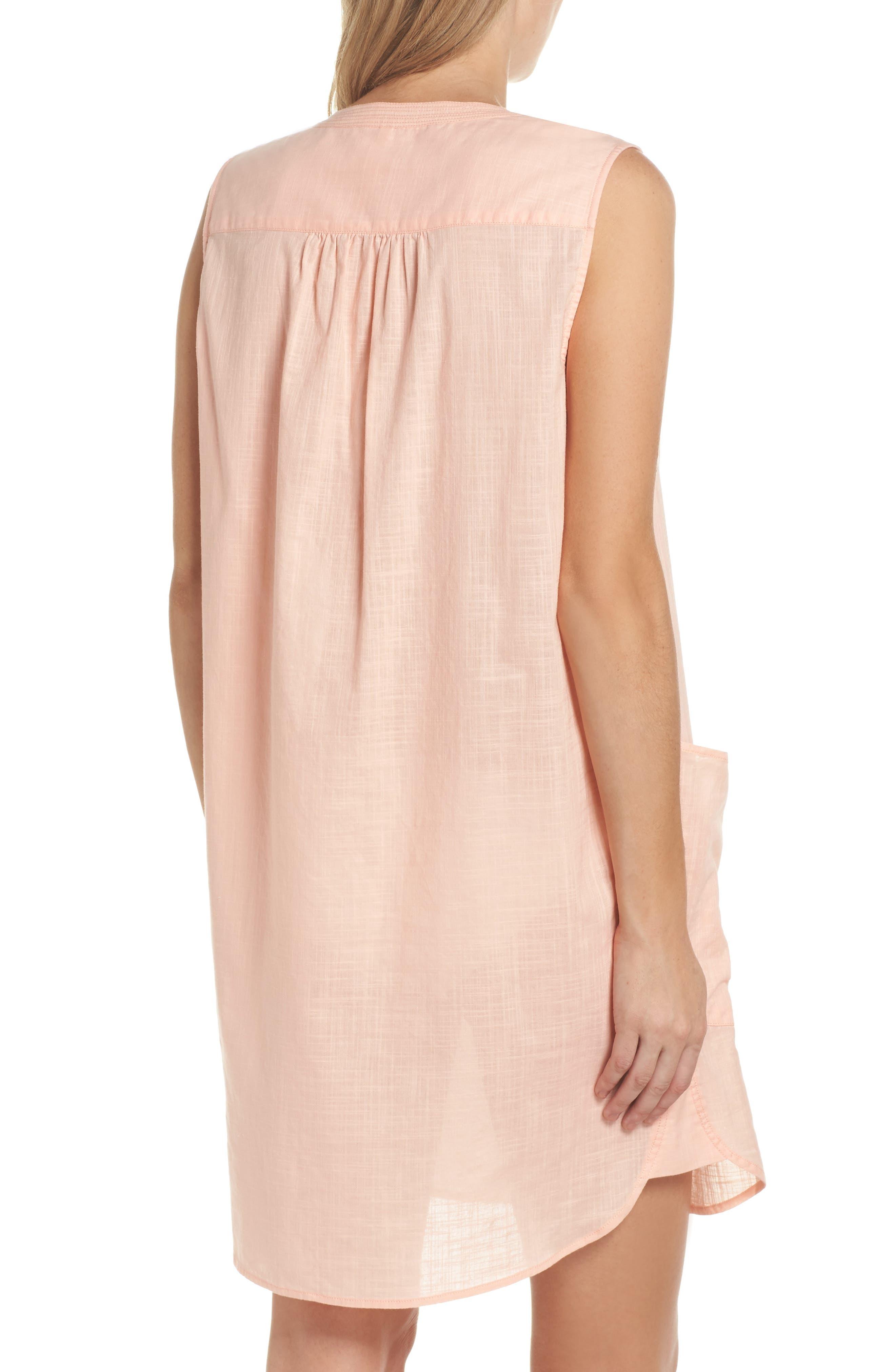 Palm Beach Cover-Up Dress,                             Alternate thumbnail 2, color,                             Peach Melba