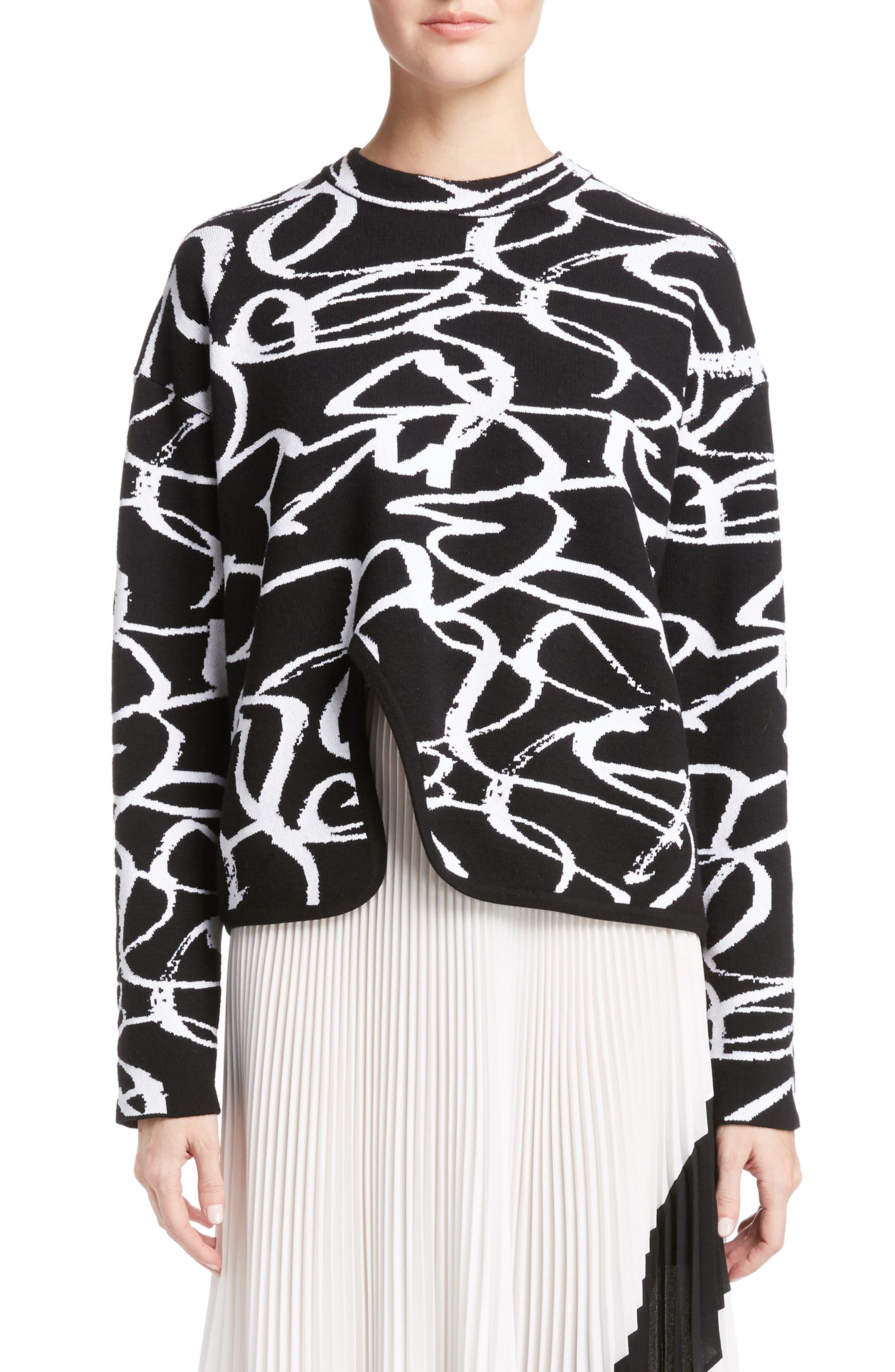 Main Image - Proenza Schouler Brushstroke Jacquard Sweater