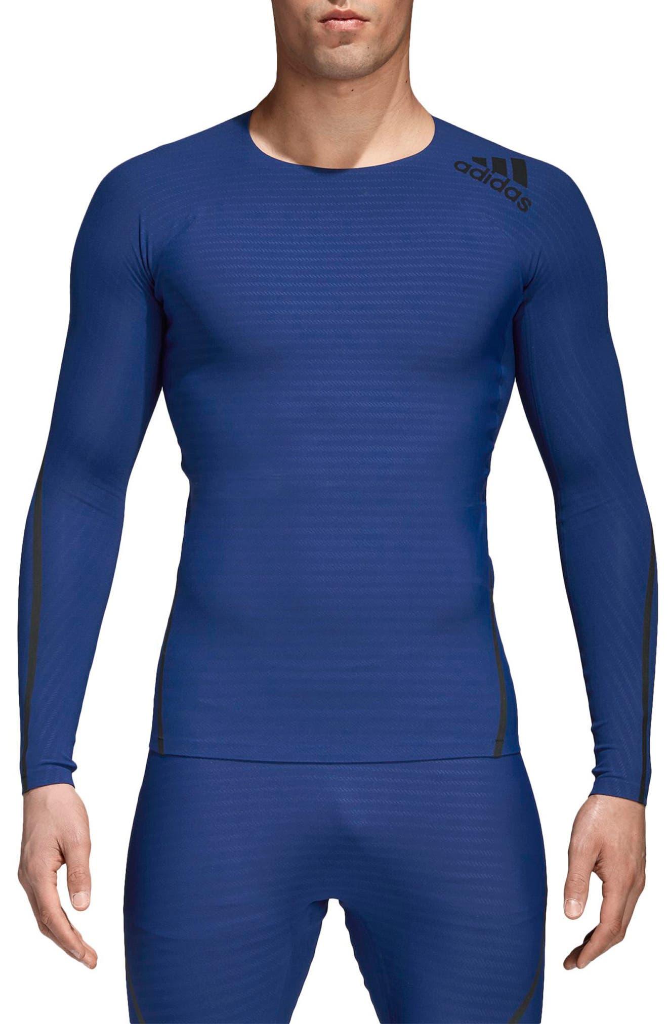 Main Image - adidas Alphaskin 360 Long Sleeve T-Shirt