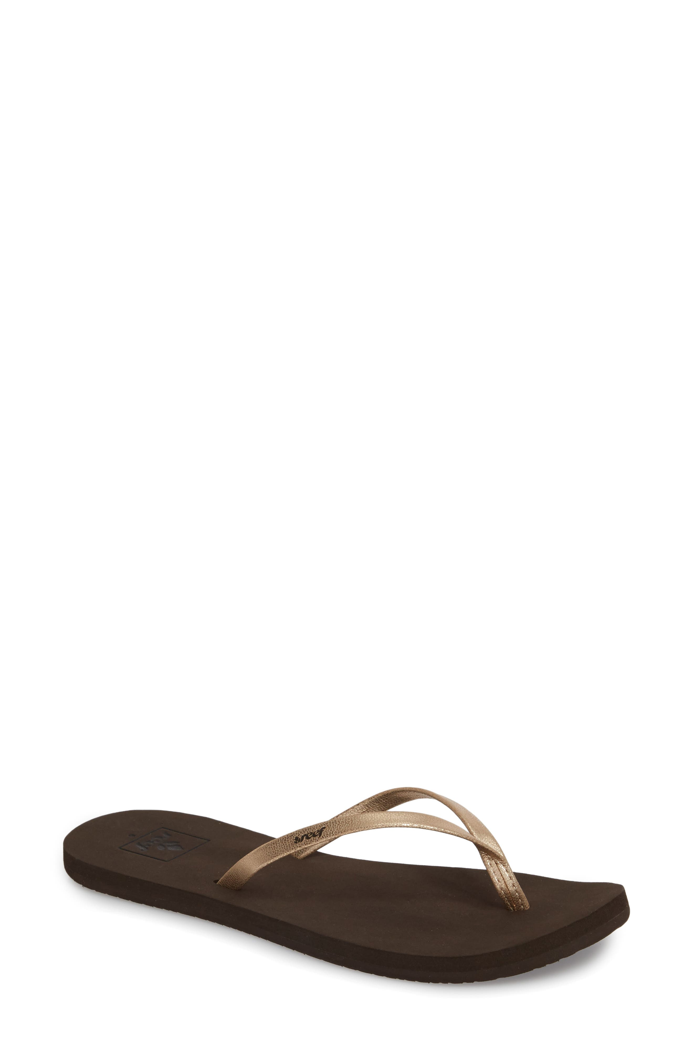 Bliss Nights Flip Flop,                             Main thumbnail 1, color,                             Rose Gold