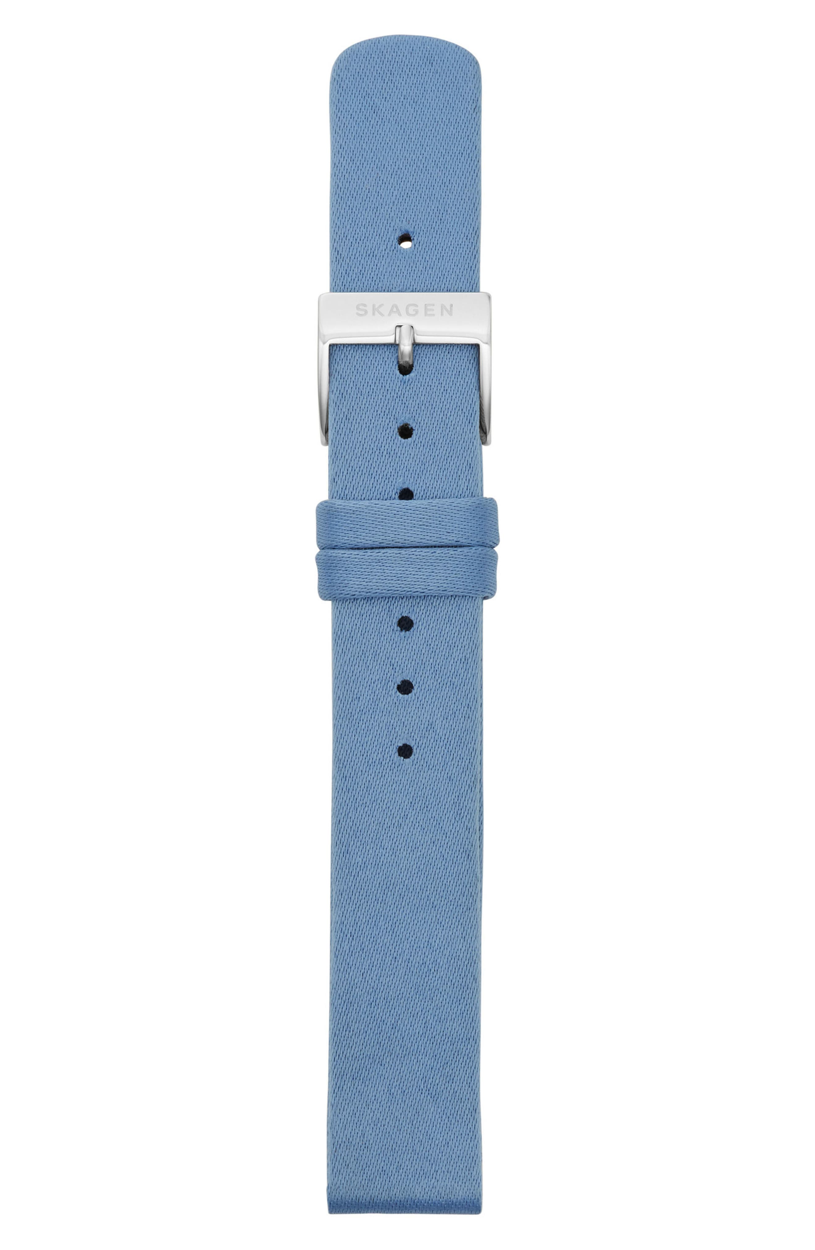 Satin Watch Strap, 14mm,                             Alternate thumbnail 2, color,                             Blue