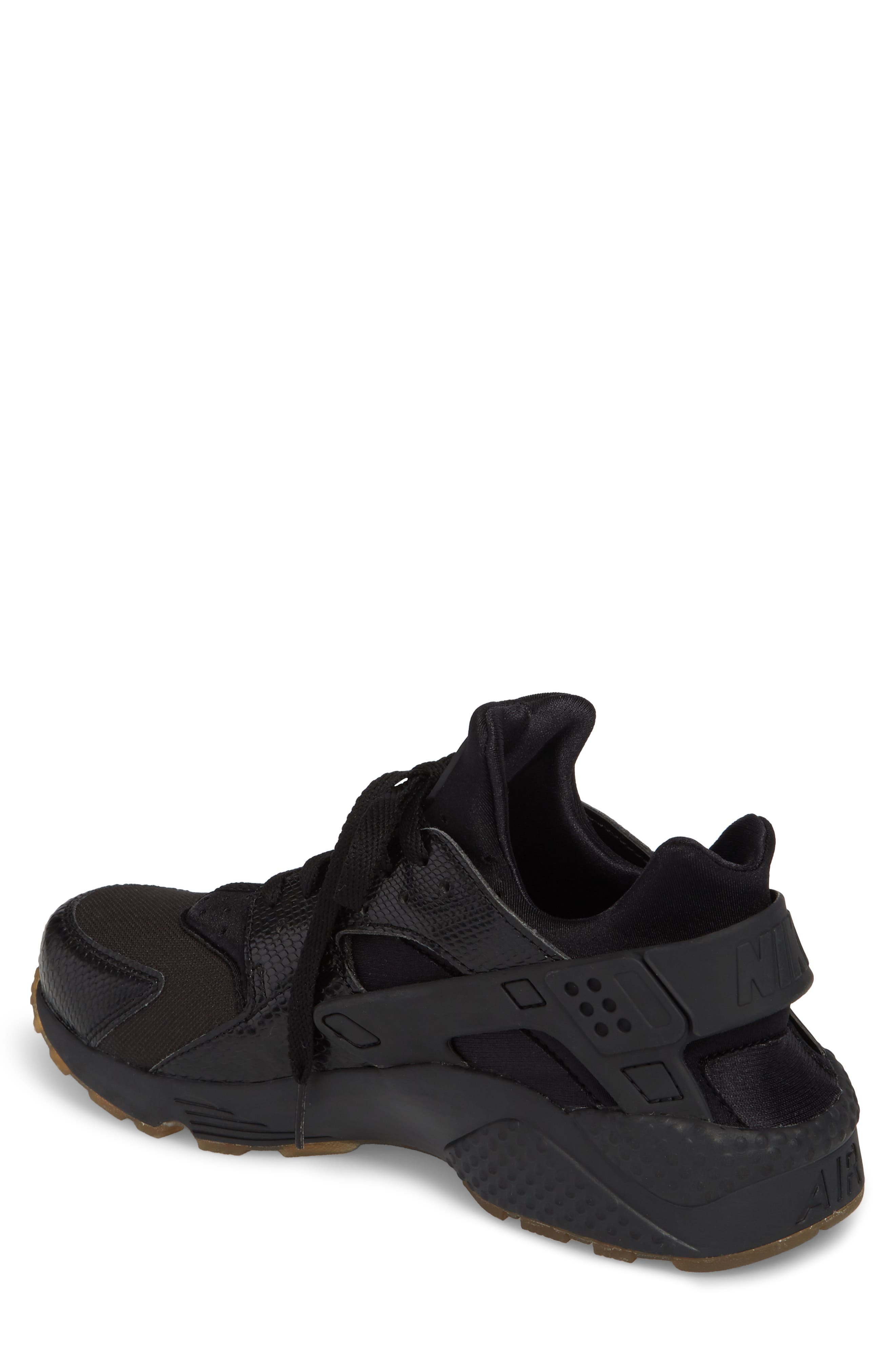 'Air Huarache' Sneaker,                             Alternate thumbnail 2, color,                             Black/ Elemental Gold/ Brown