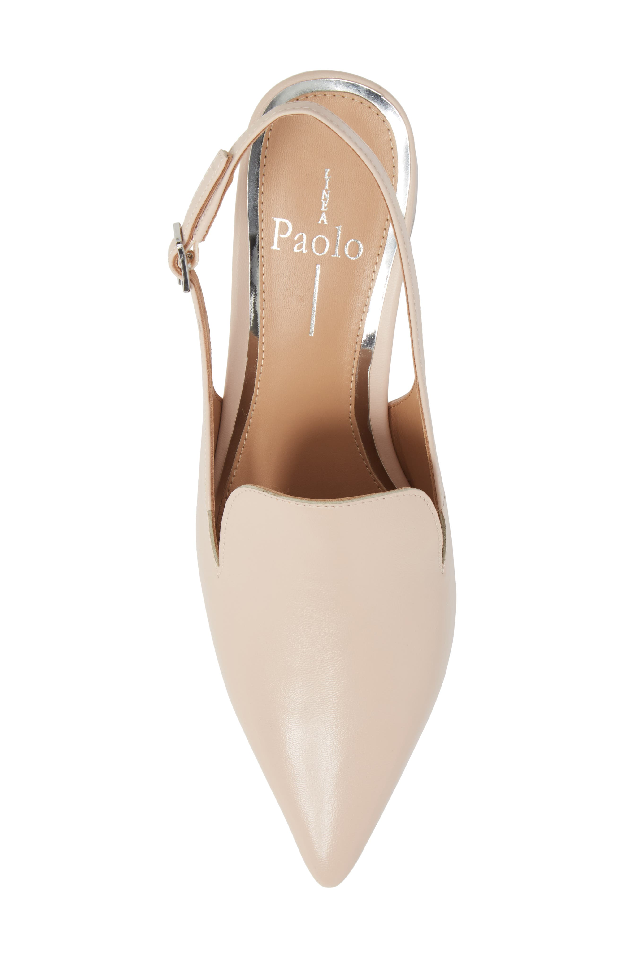 Carly Slingback Pump,                             Alternate thumbnail 5, color,                             Pale Pink Leather